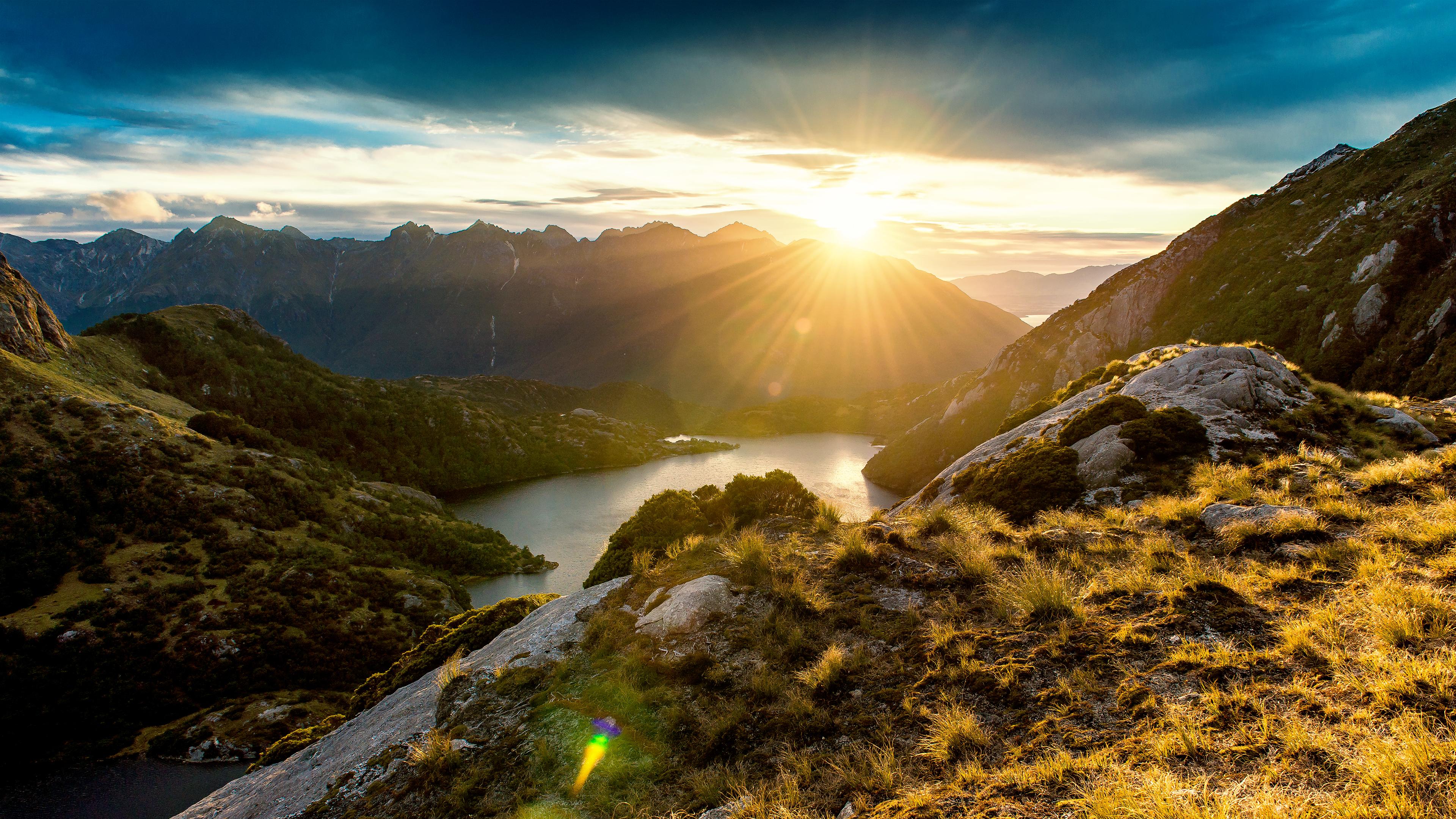 Fiordland Sunrise, hd walepaper, free wallpaper