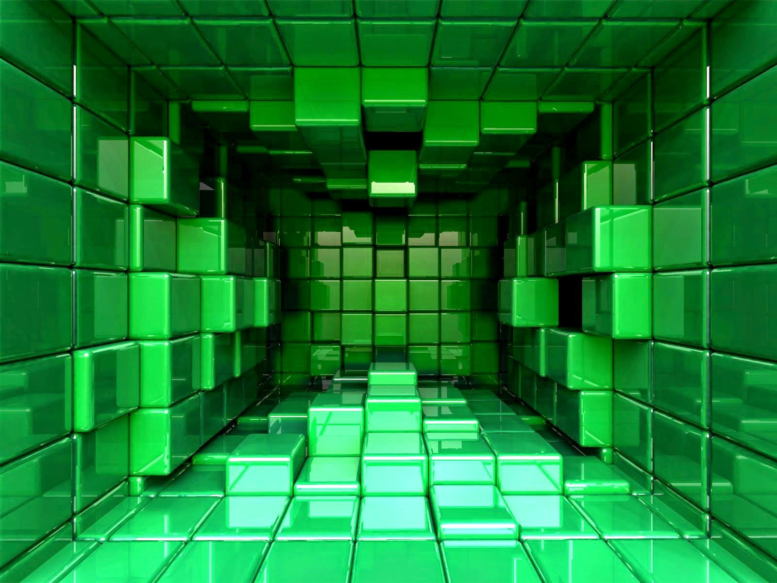 3d wallpapers desktop backgrounds green cubes 3d, 4k wallpaper