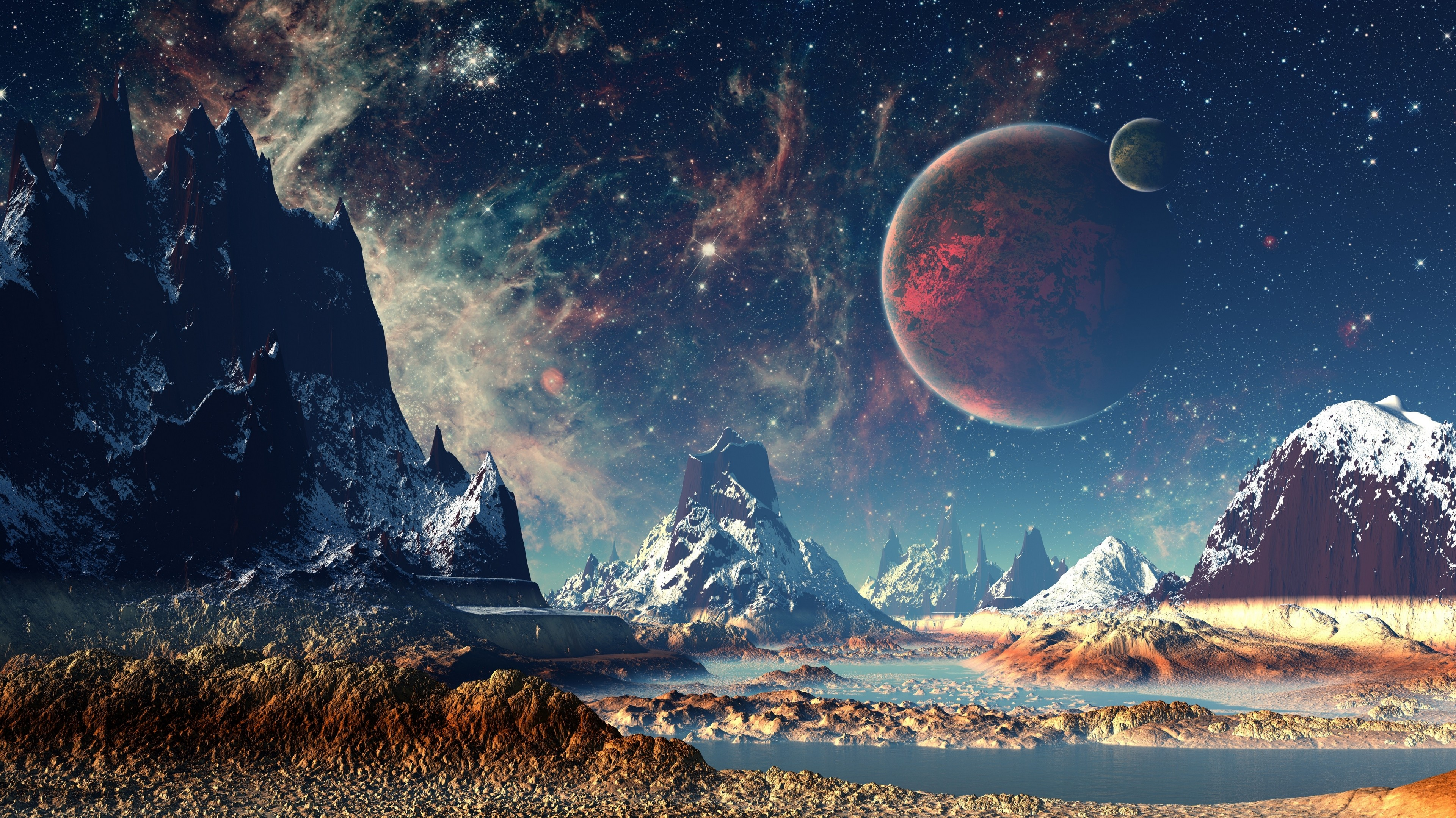 4k creative universe planet wallpaper wallpaper download - Red space wallpaper 4k ...