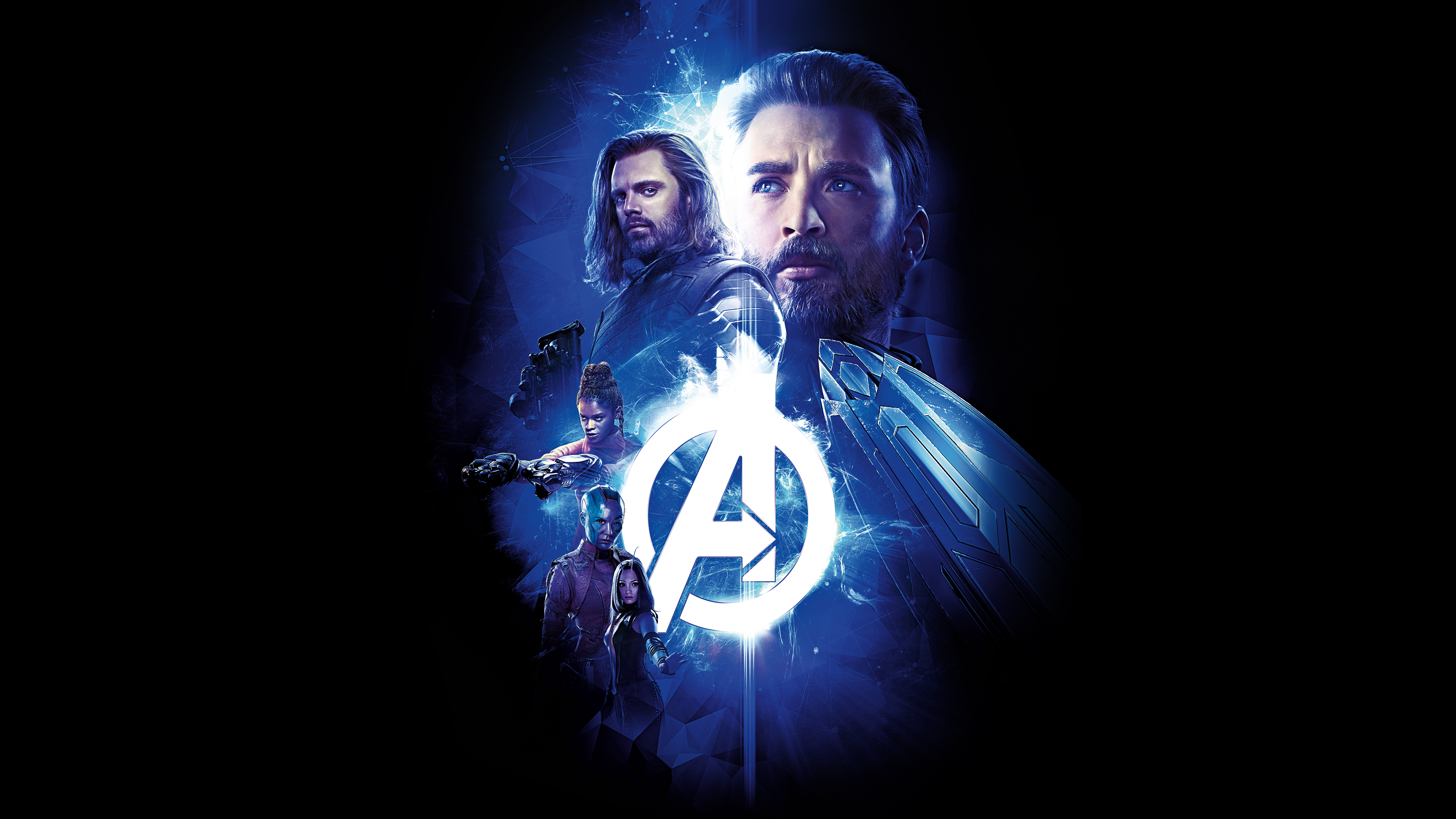 Avengers Infinity War Captain America Winter Soldier Nebula