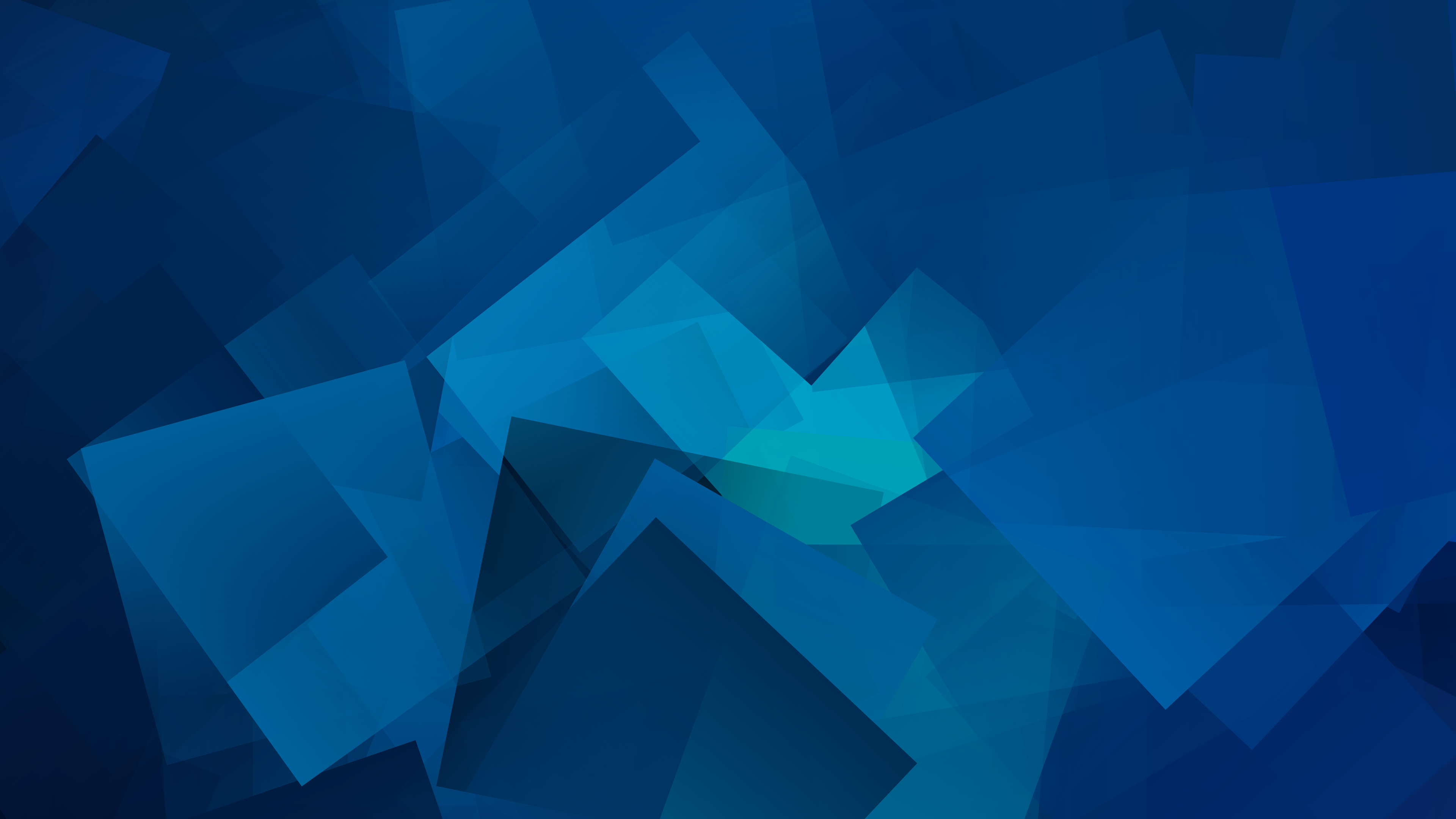 Blue Geometic Cubes 4K