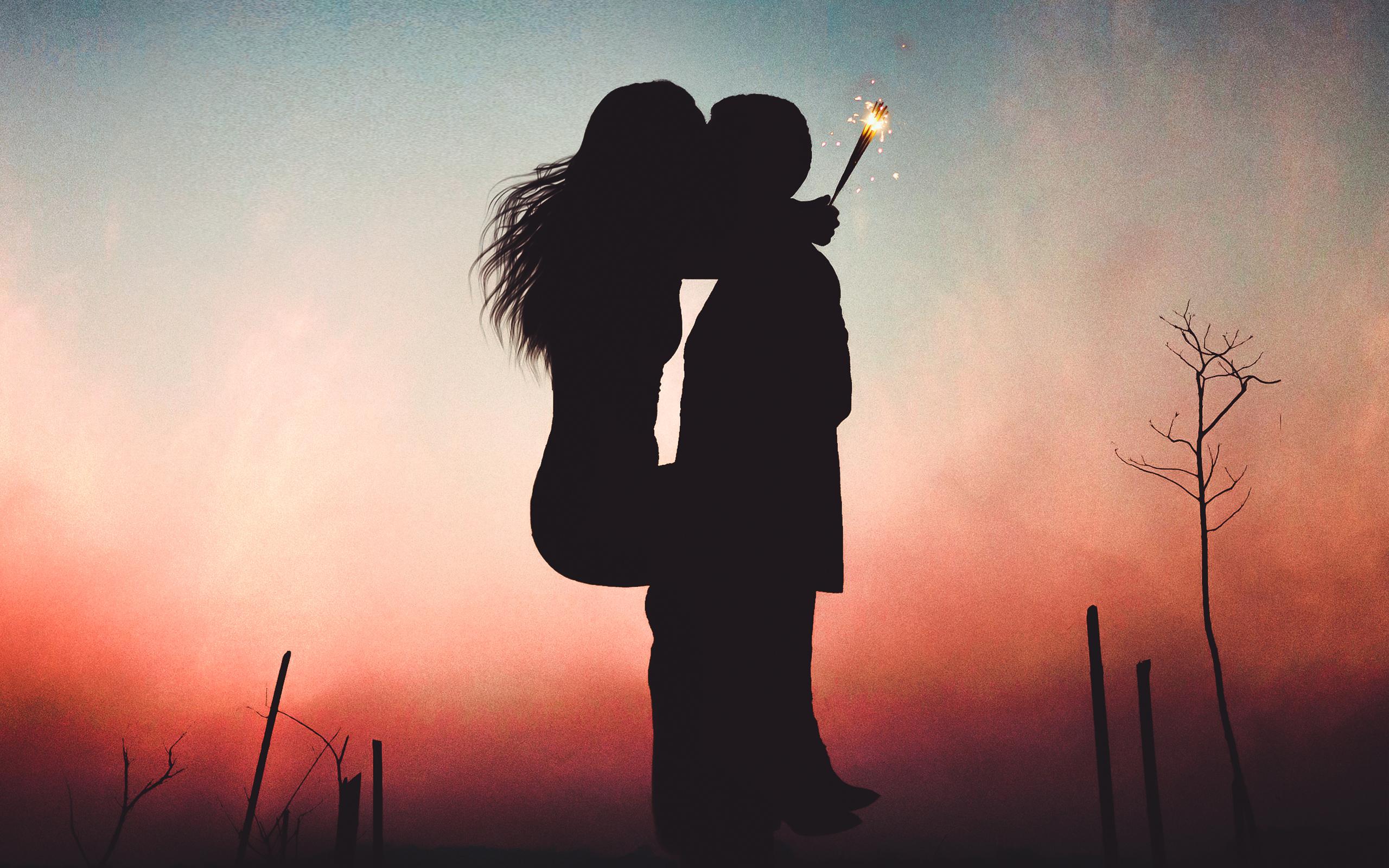 Couple Kiss Wallpaper Download - High