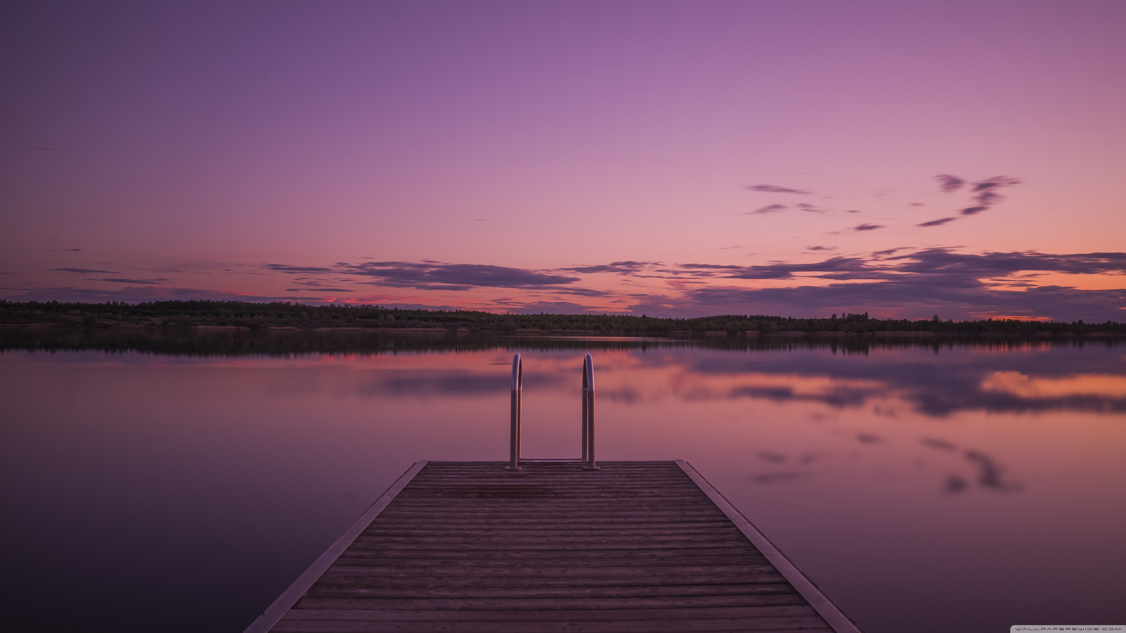 Download Purple Sunset HD Wallpaper
