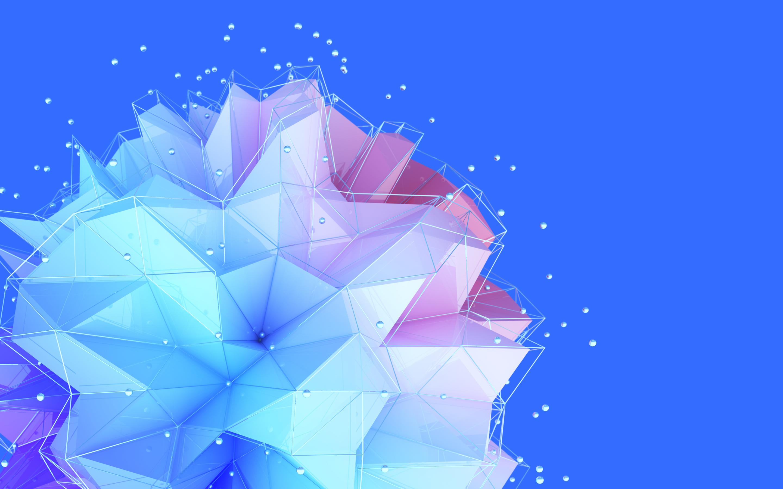 Geometric 3D Ball HTC U11 Plus Stock Wallpaper Download