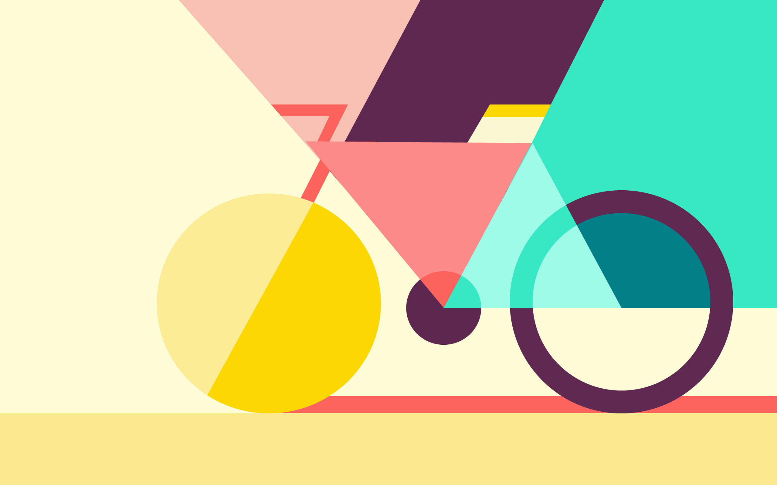 Geometric Abstract Bicycle