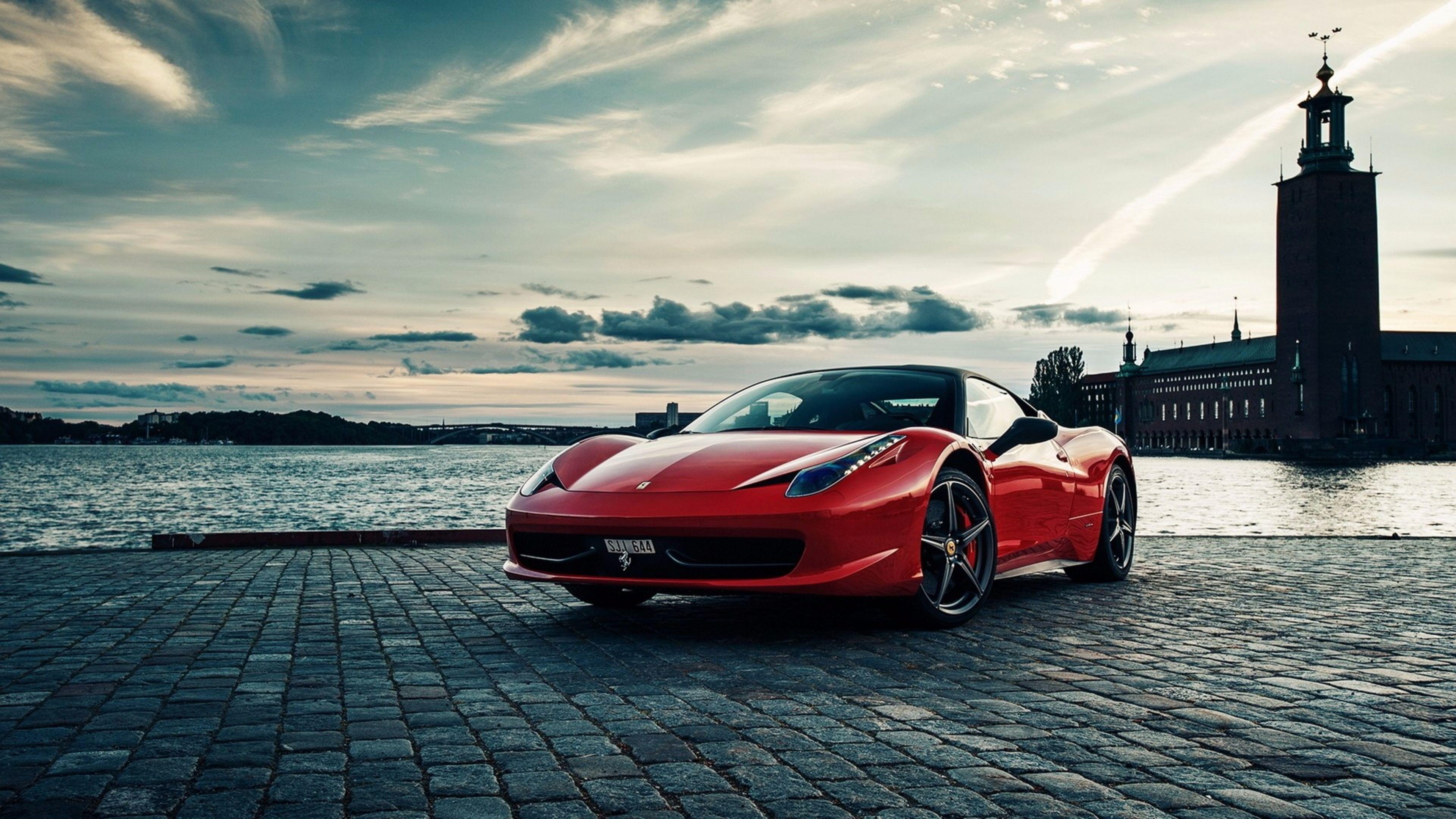 Hot Red Ferrari 458 4K Wallpapers 4k Car Wallpaper Cars