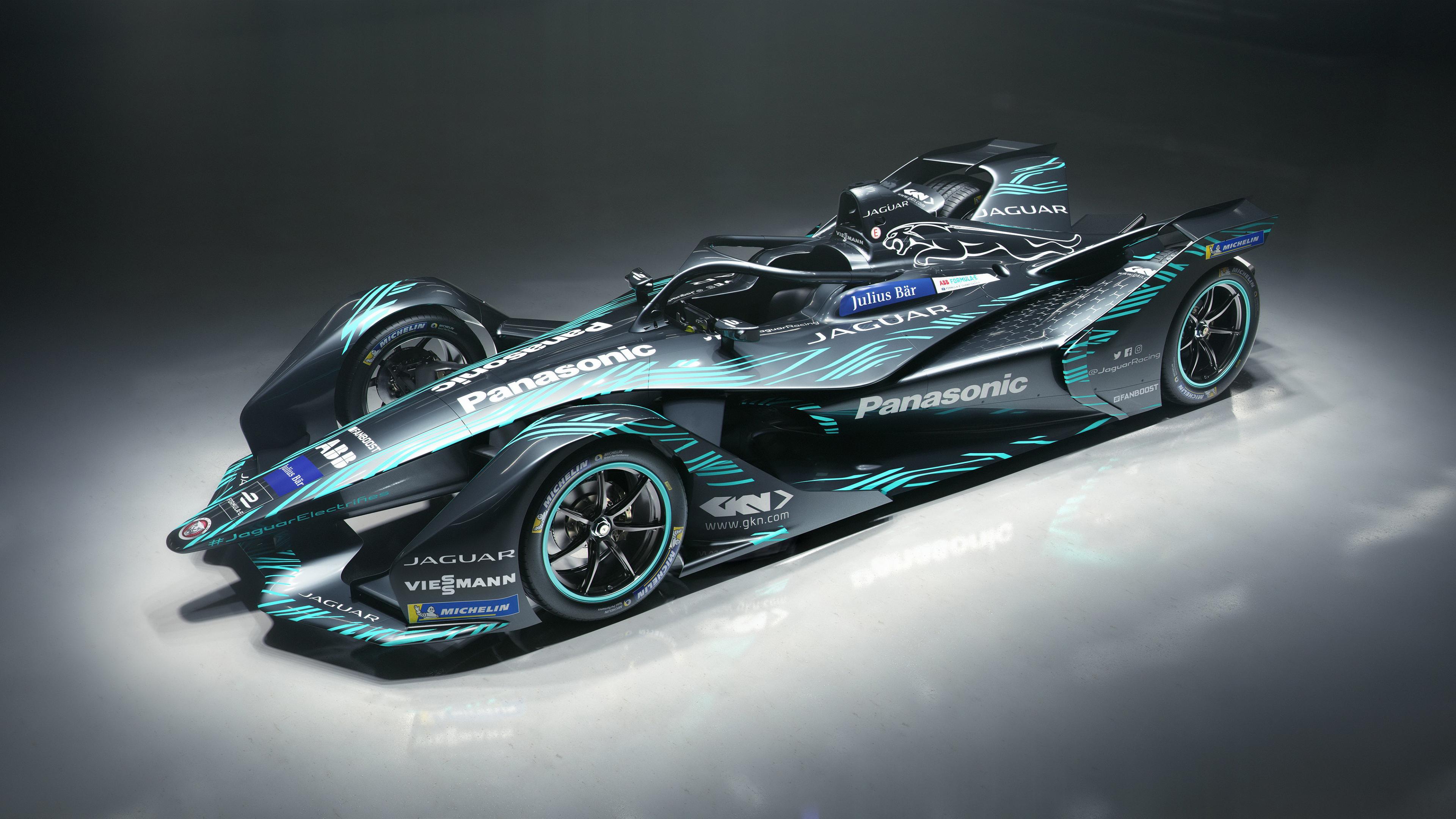 Jaguar I Type Electric Formula E Car 4k Wallpaper Download High