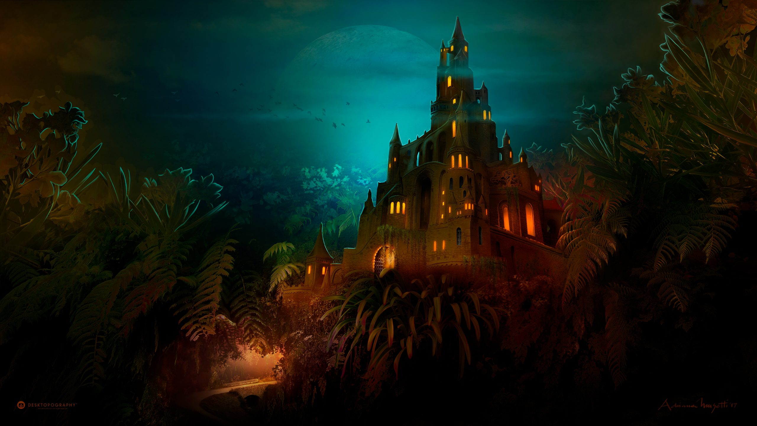 Lilliput Castle Dark Night