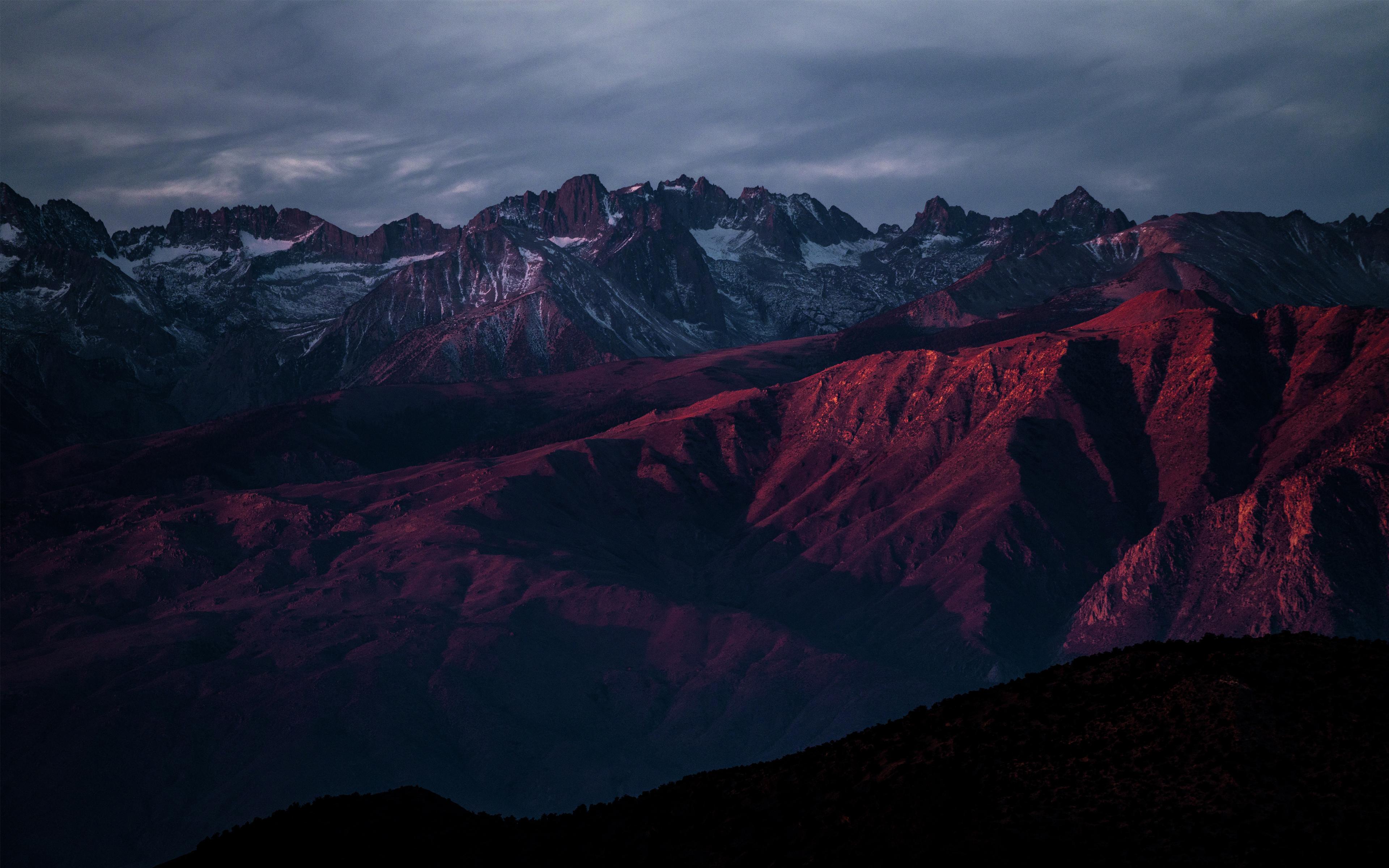 Mountains after Sunset 4K 8K Wallpaper