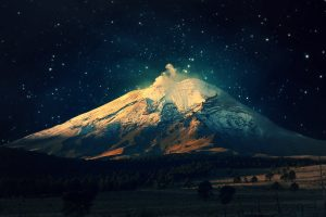 Night mountains widescreen wallpapers