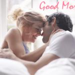 Romantic couple good morning image