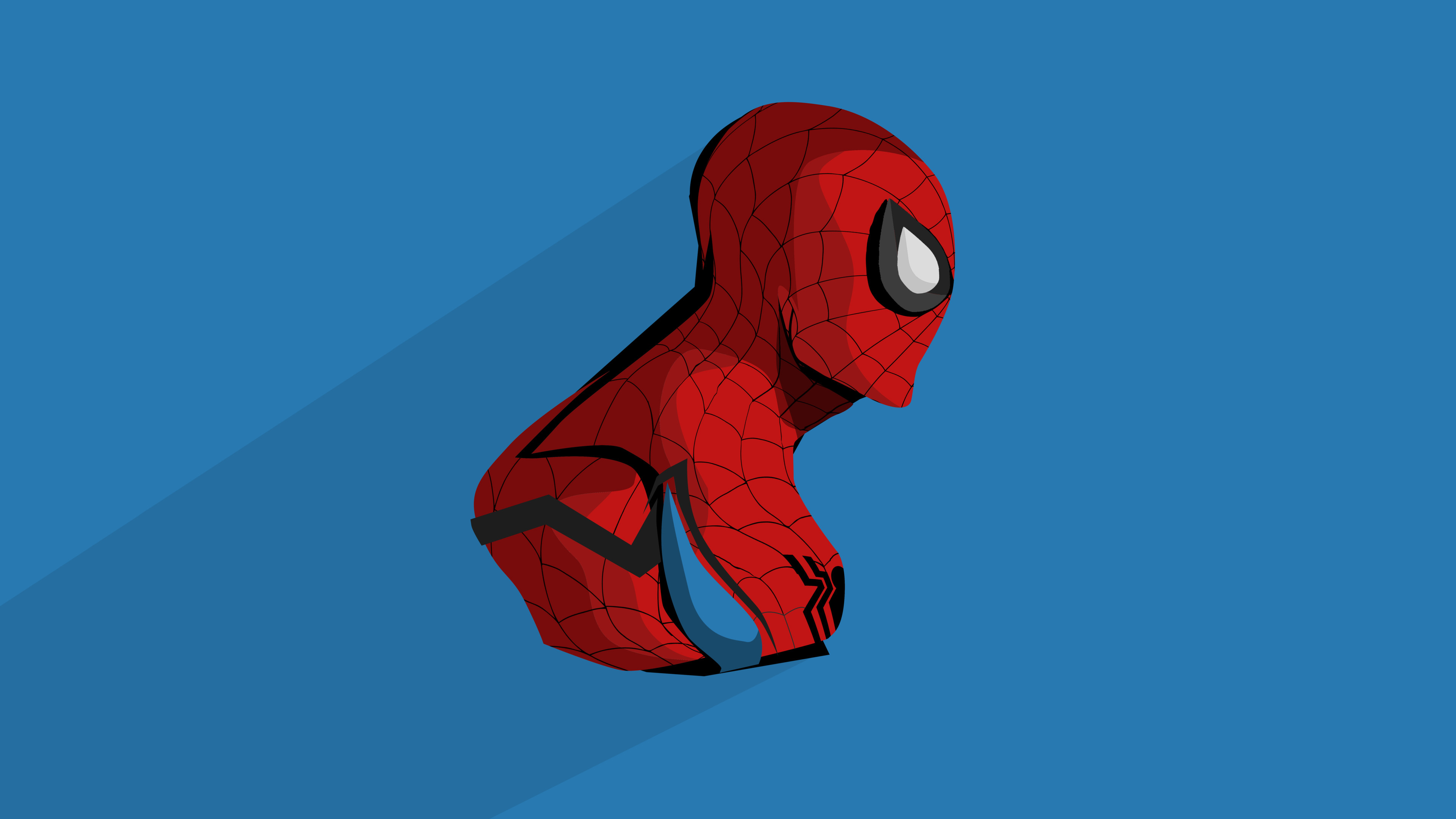 Spider Man Minimal Artwork 4K