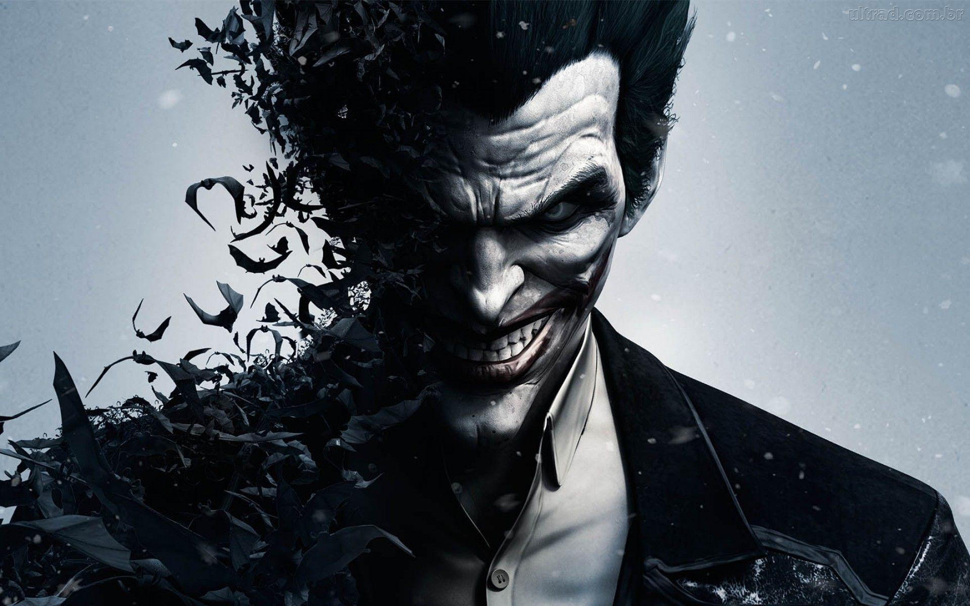 The Joker Smiling Batman Arkham Origins 1920×1080 Game Wallpaper