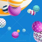 Wallpaper abstract, balls, colorful, modern, 4k, 5k, 8k, Abstract