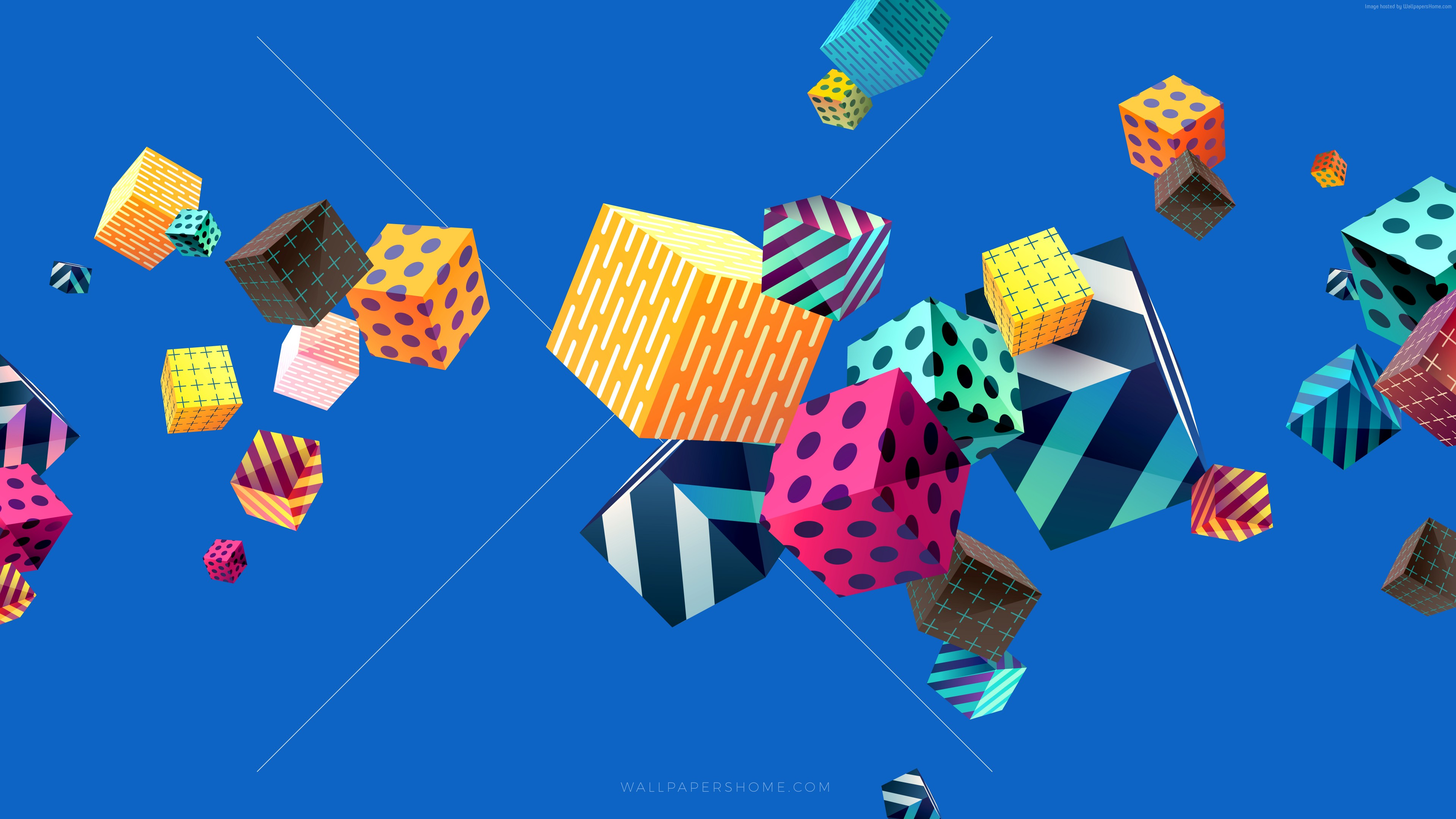 Cubes colorful wallpaper download high resolution 4k wallpaper - 4k colorful wallpaper ...