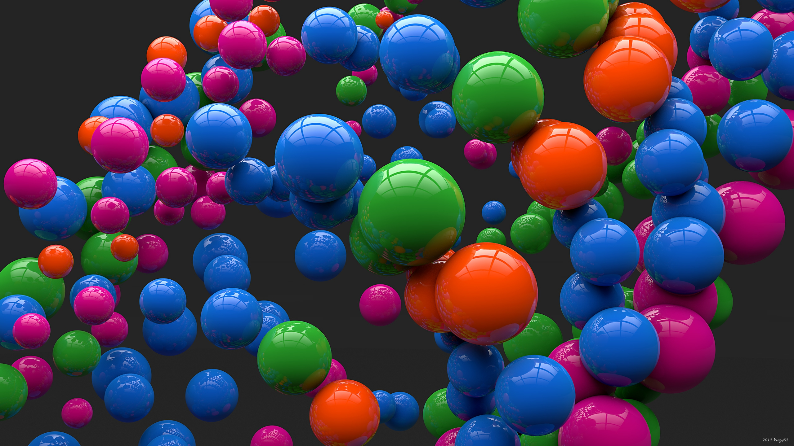 Wallpaper Balloons, Colorful, Bright