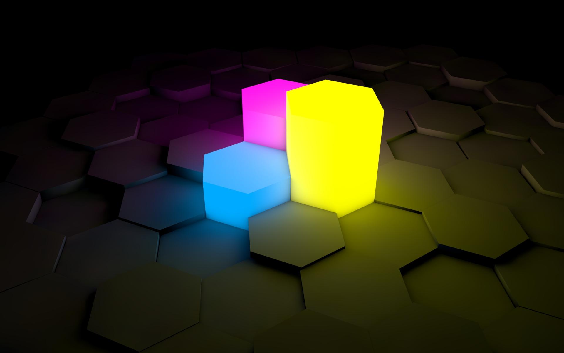 Wallpaper Figurines, Lights, Neon, Surface