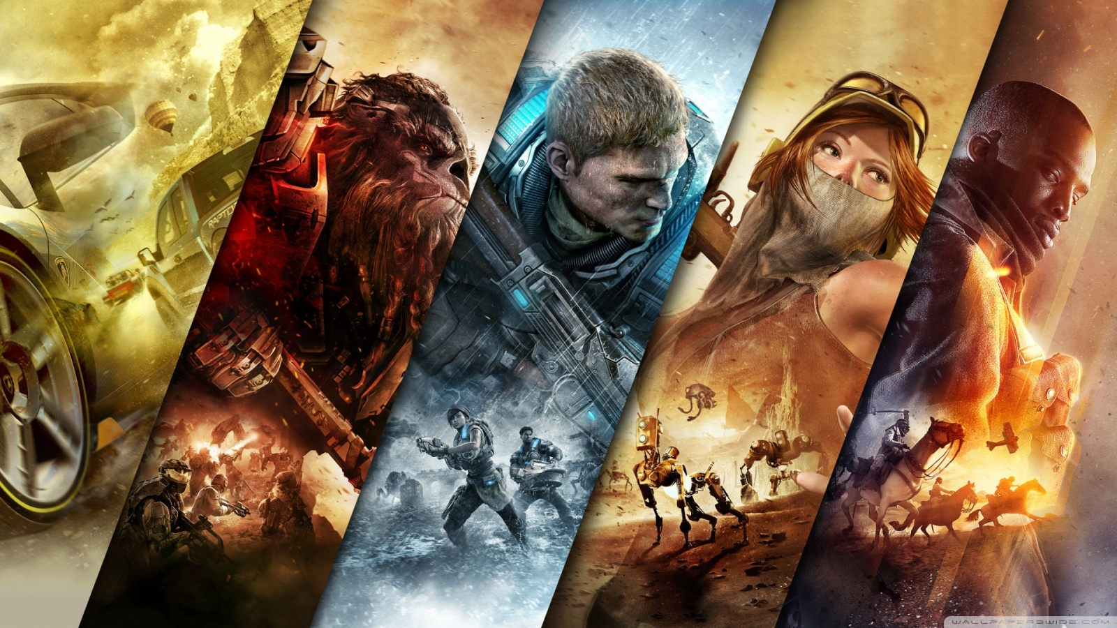 xbox games wallpaper 1600×900