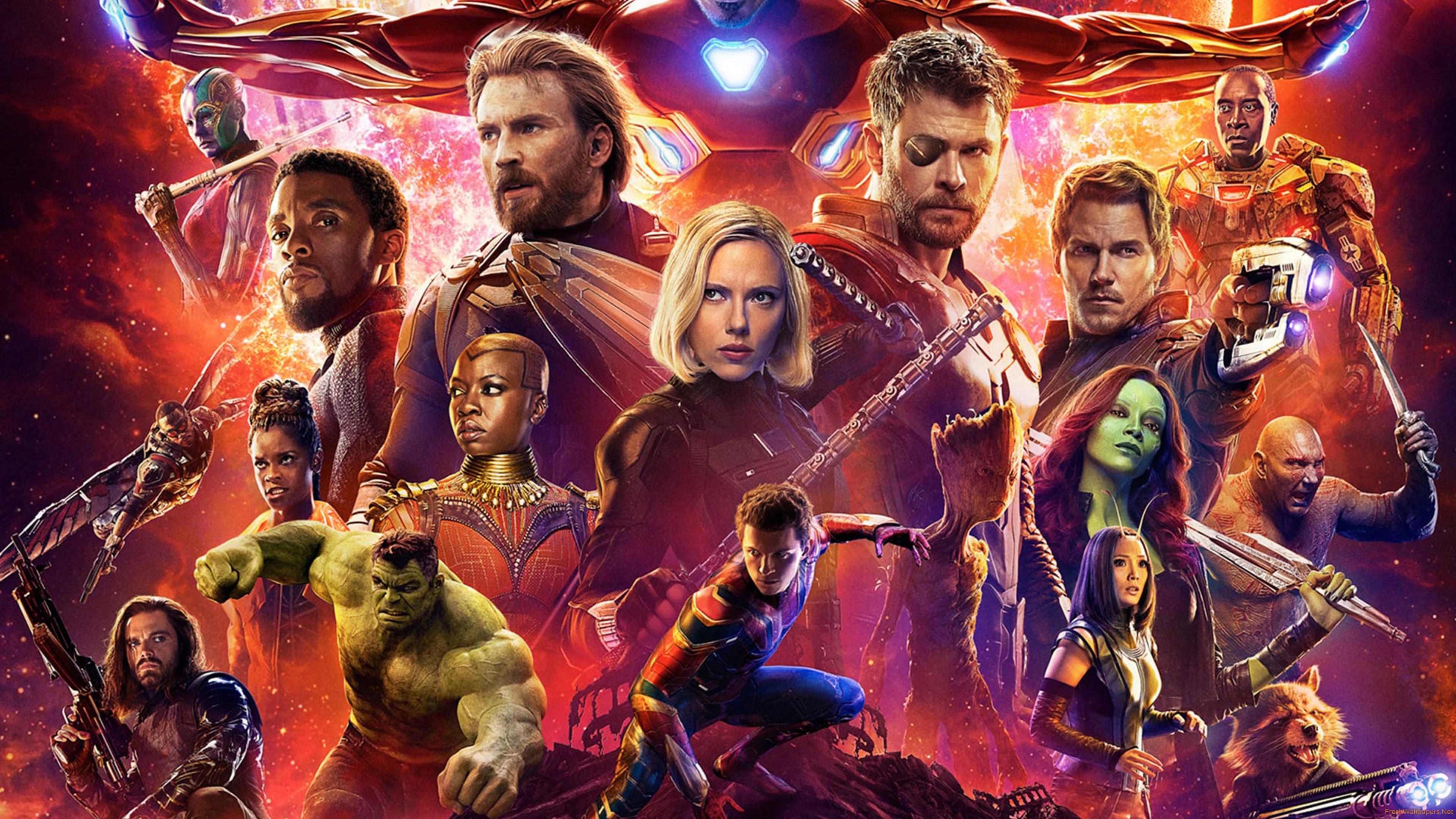 Avengers Infinity War 2018 Poster 4k