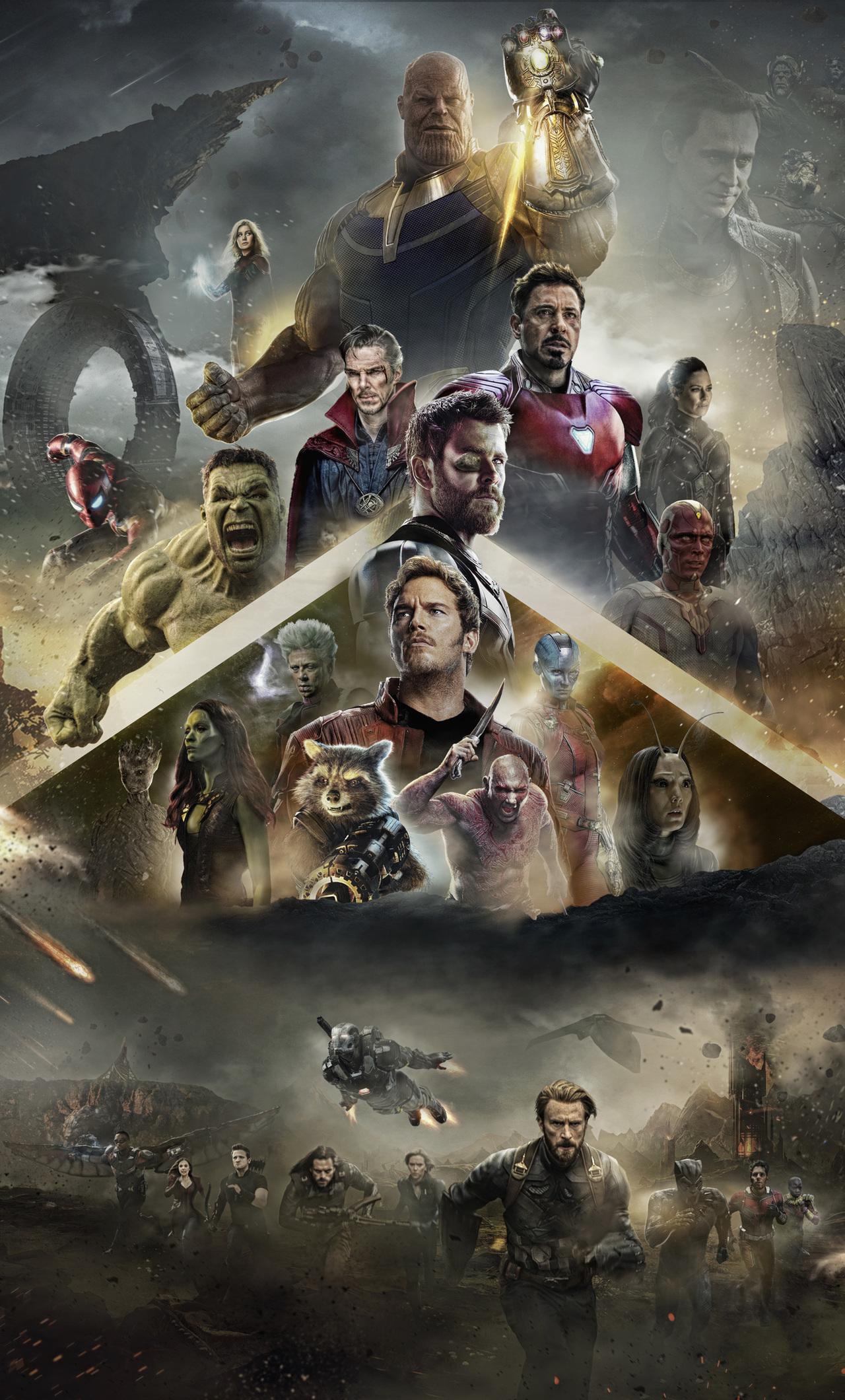 Avengers Infinity War 2018 Poster Mobile