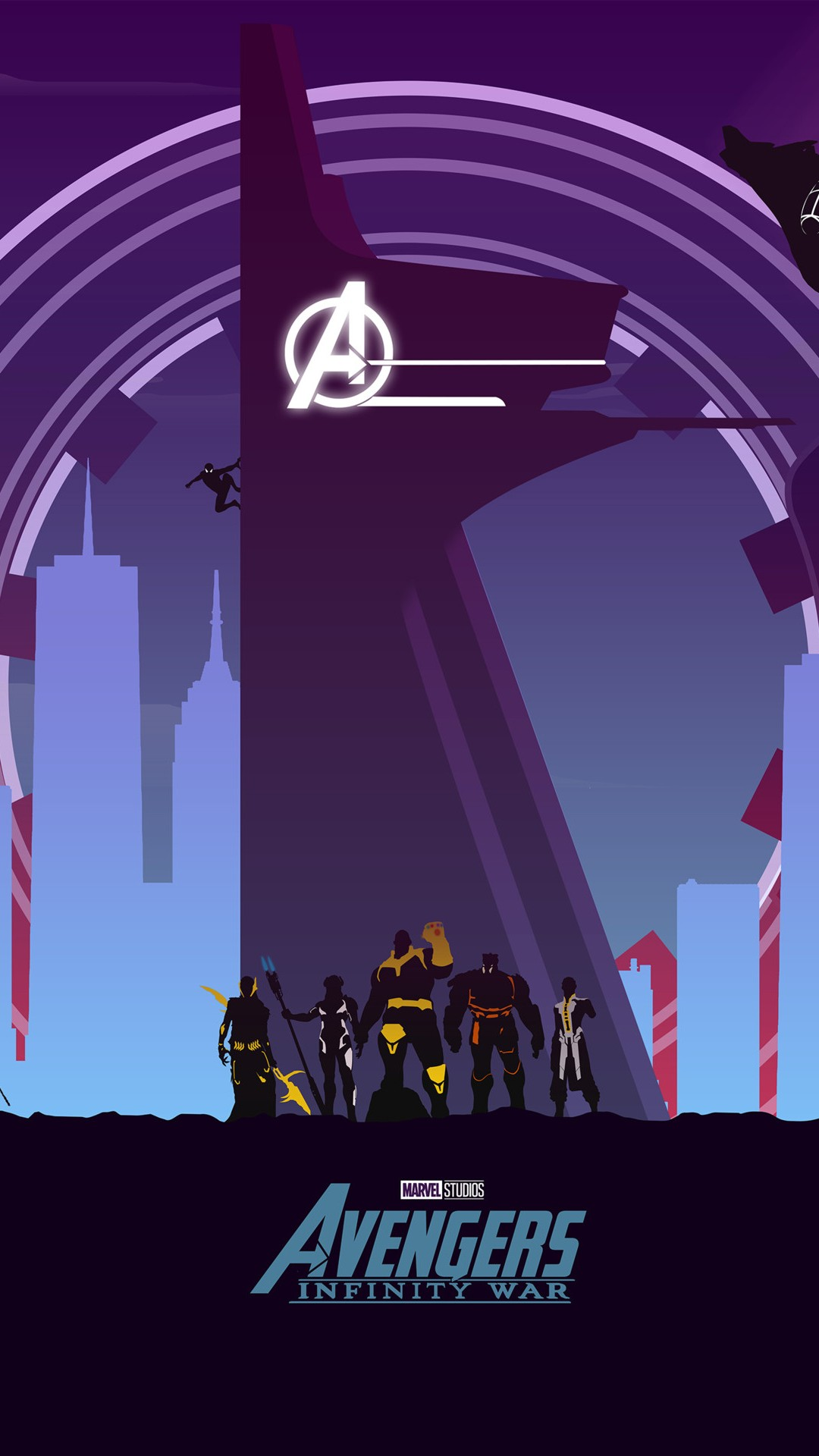 Avengers Infinity War Artwork Minimal
