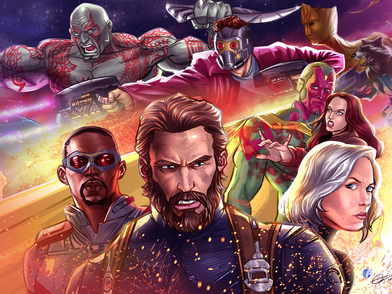 Avengers Infinty War 2018 4k Artwork