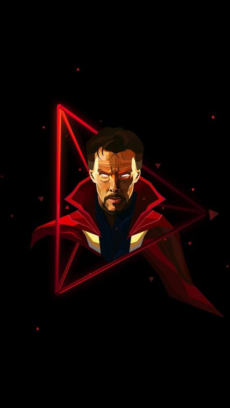 Doctor Strange Neon Avengers infinity War iPhone
