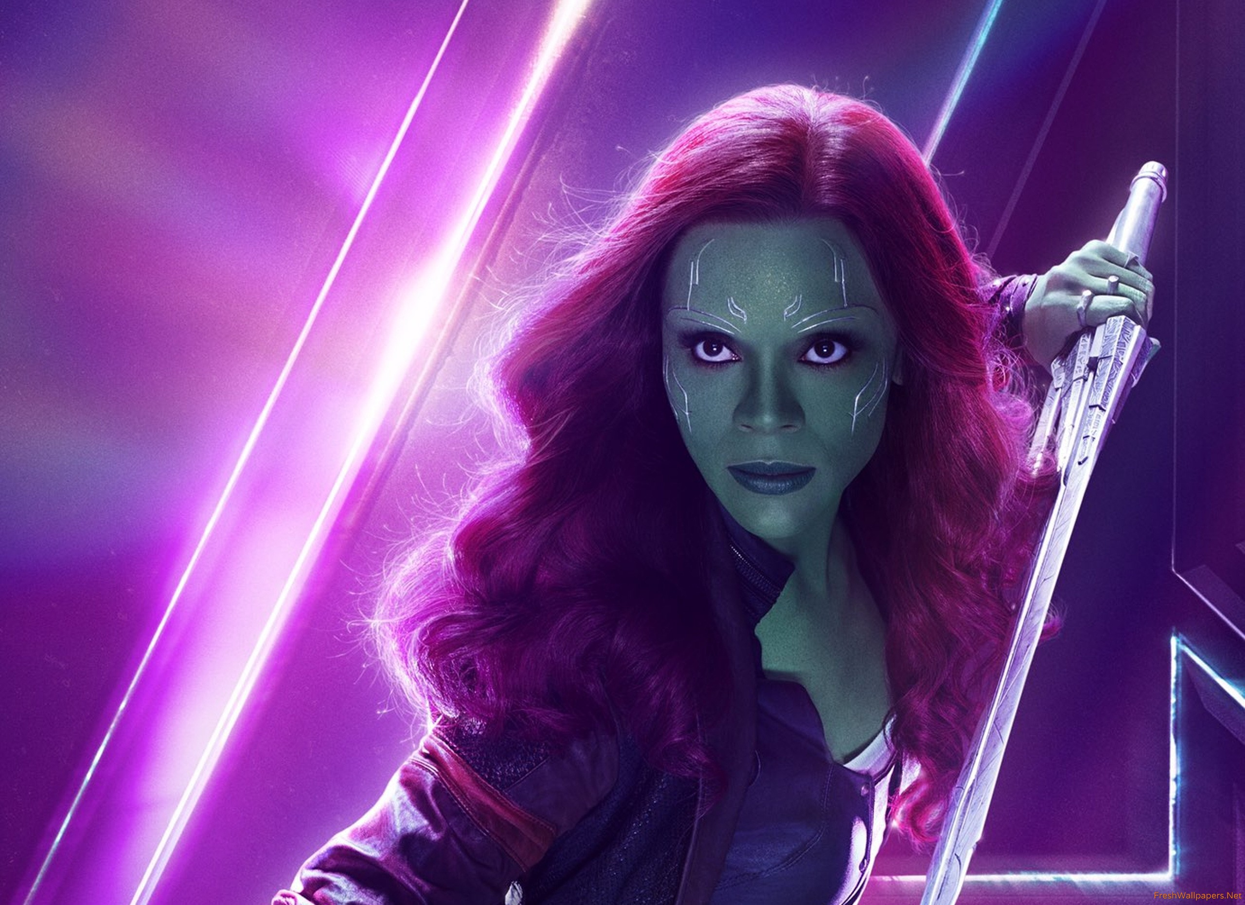 Gamora In Avengers Infinity War New Poster