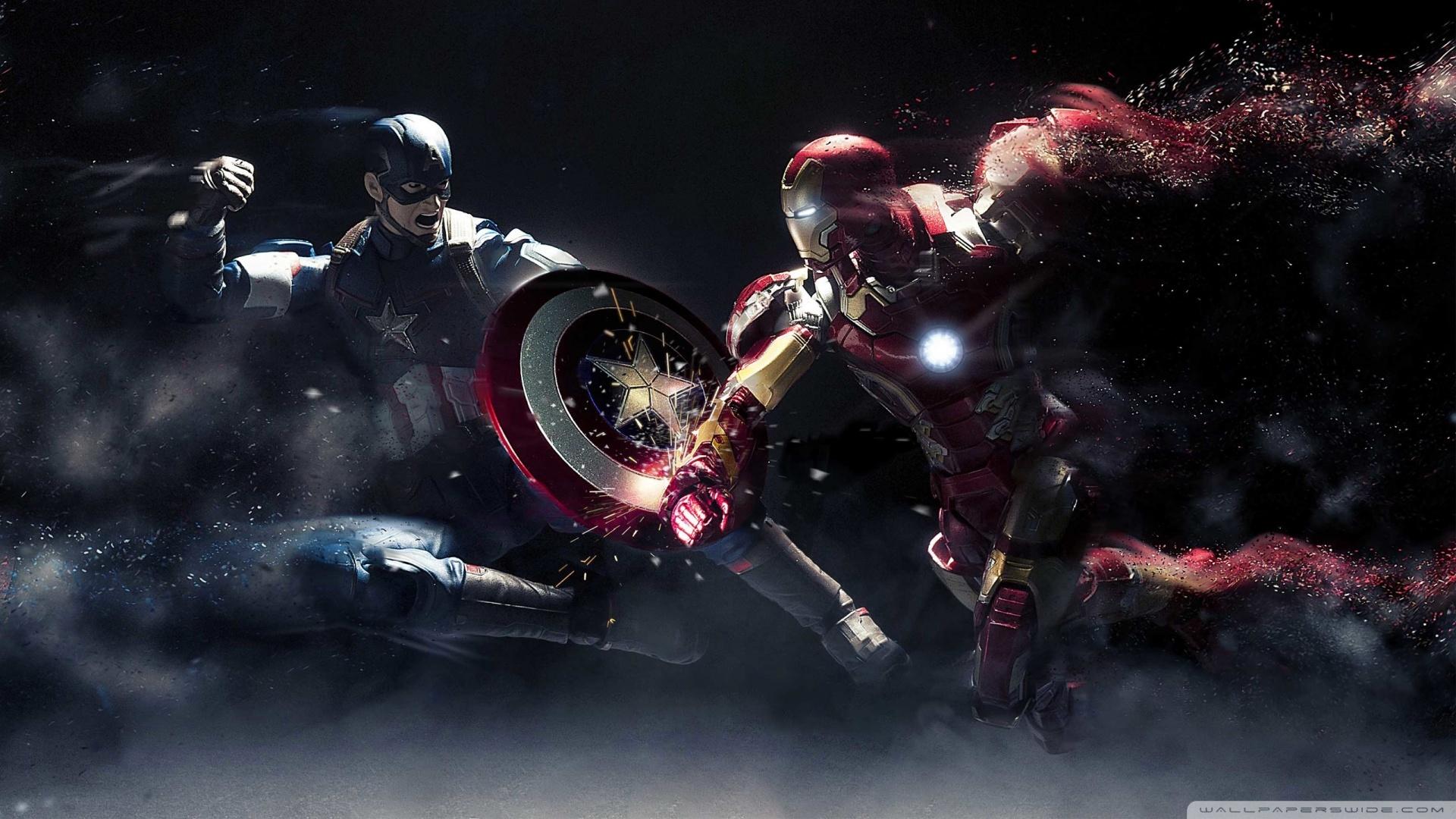captain america vs iron man 1080p 4k