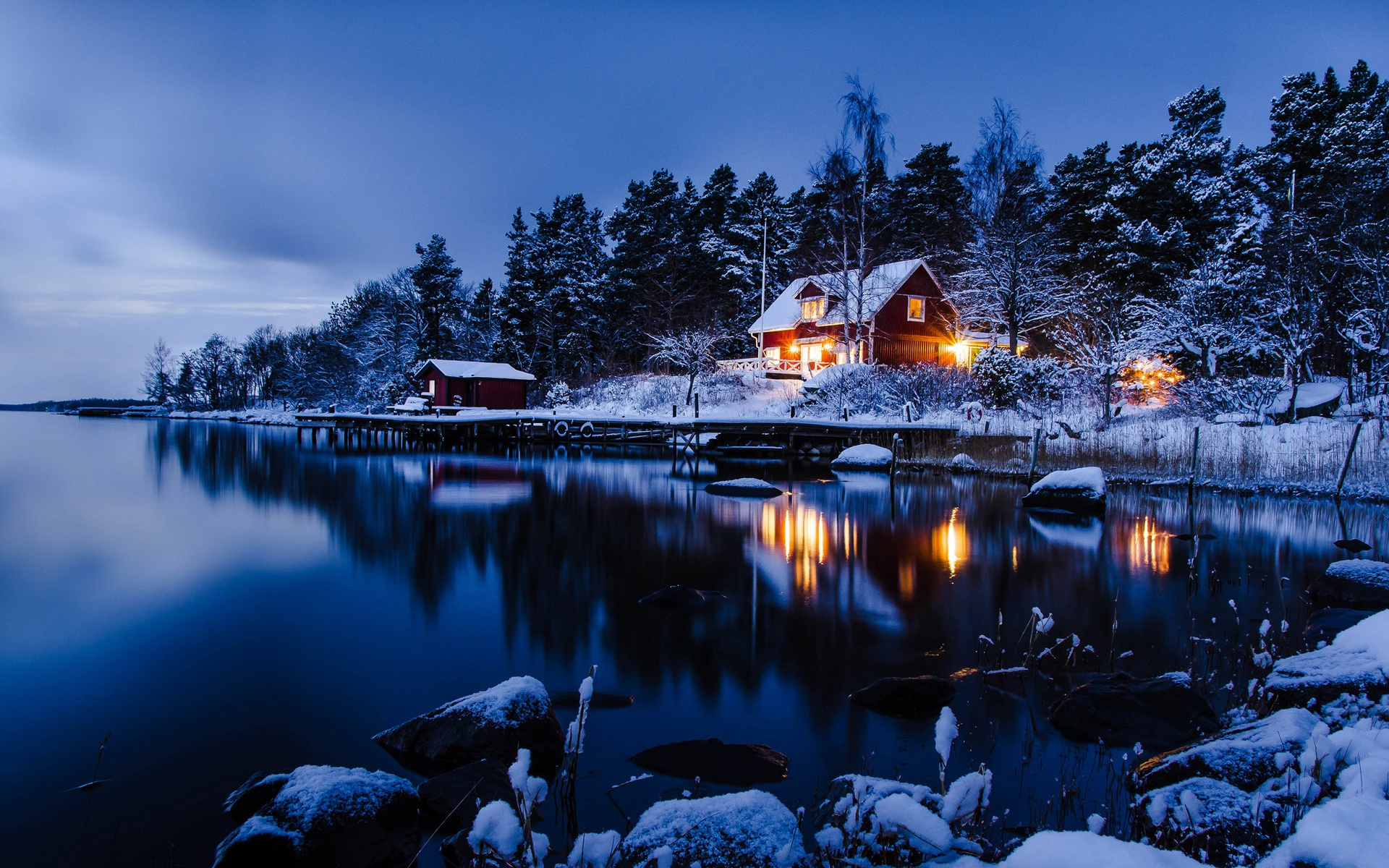sweden landscape nighty desktop downloads