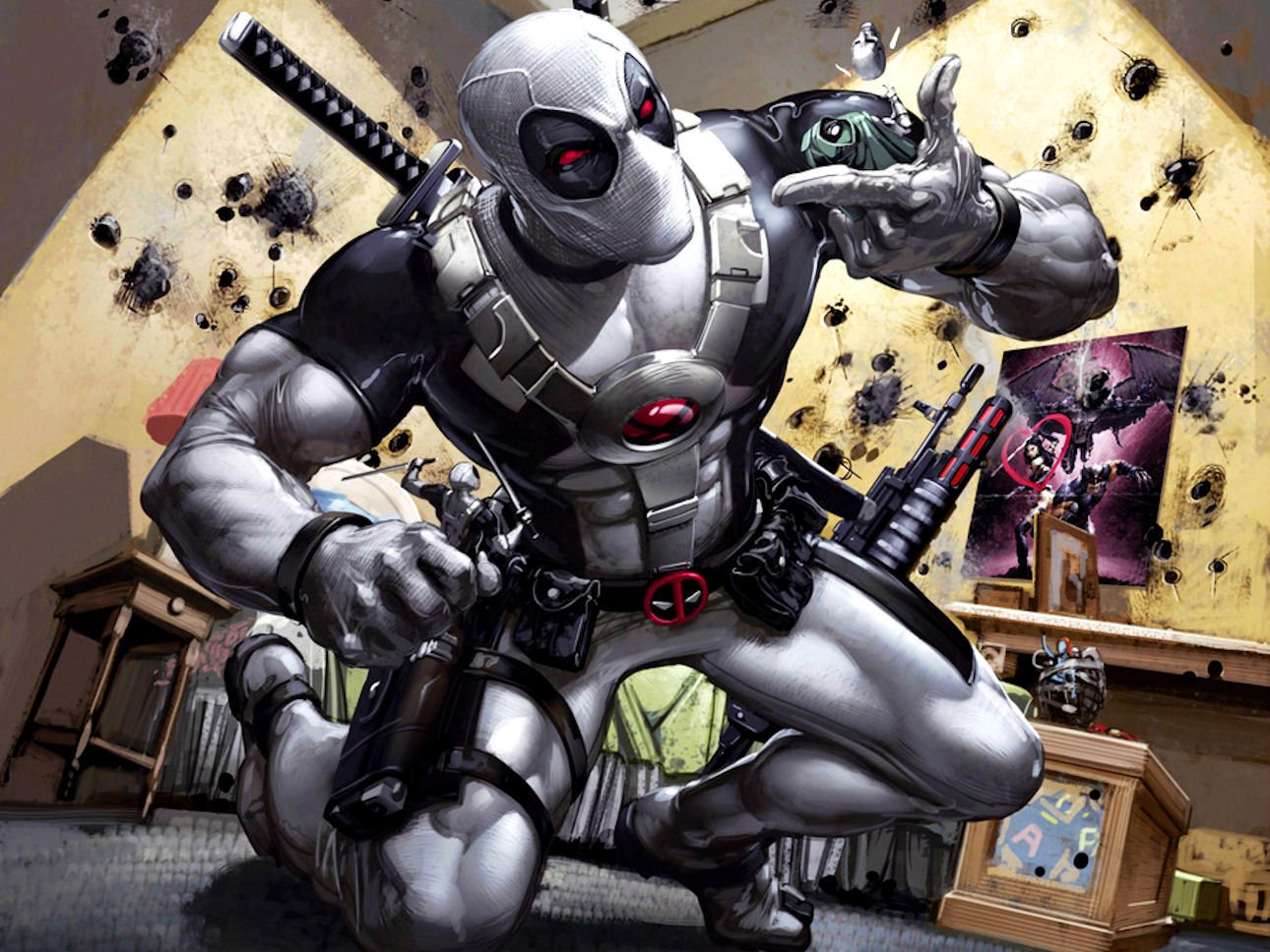 Deadpool White HD Pictures