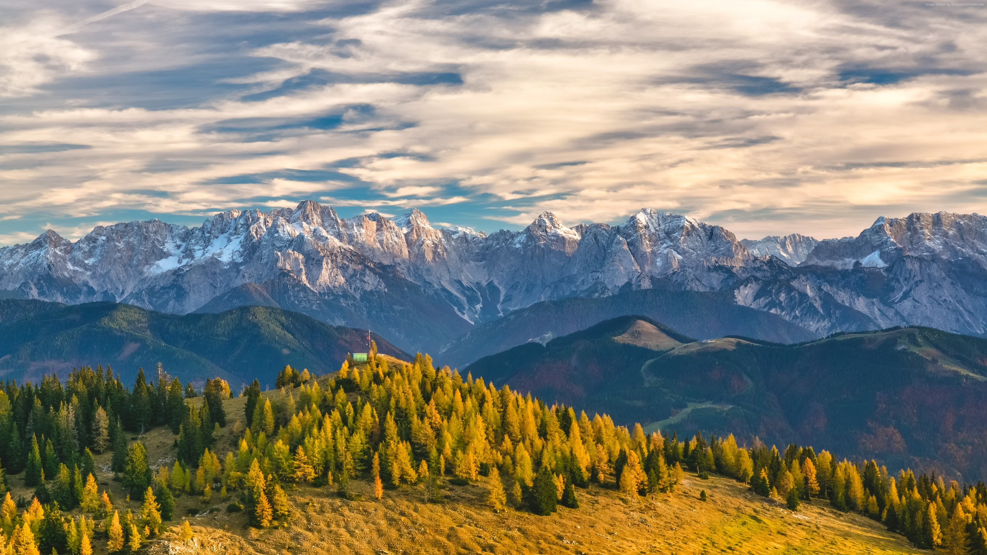 Stock Images Alps, Switzerland, mountains, trees, 4k, Stock Images