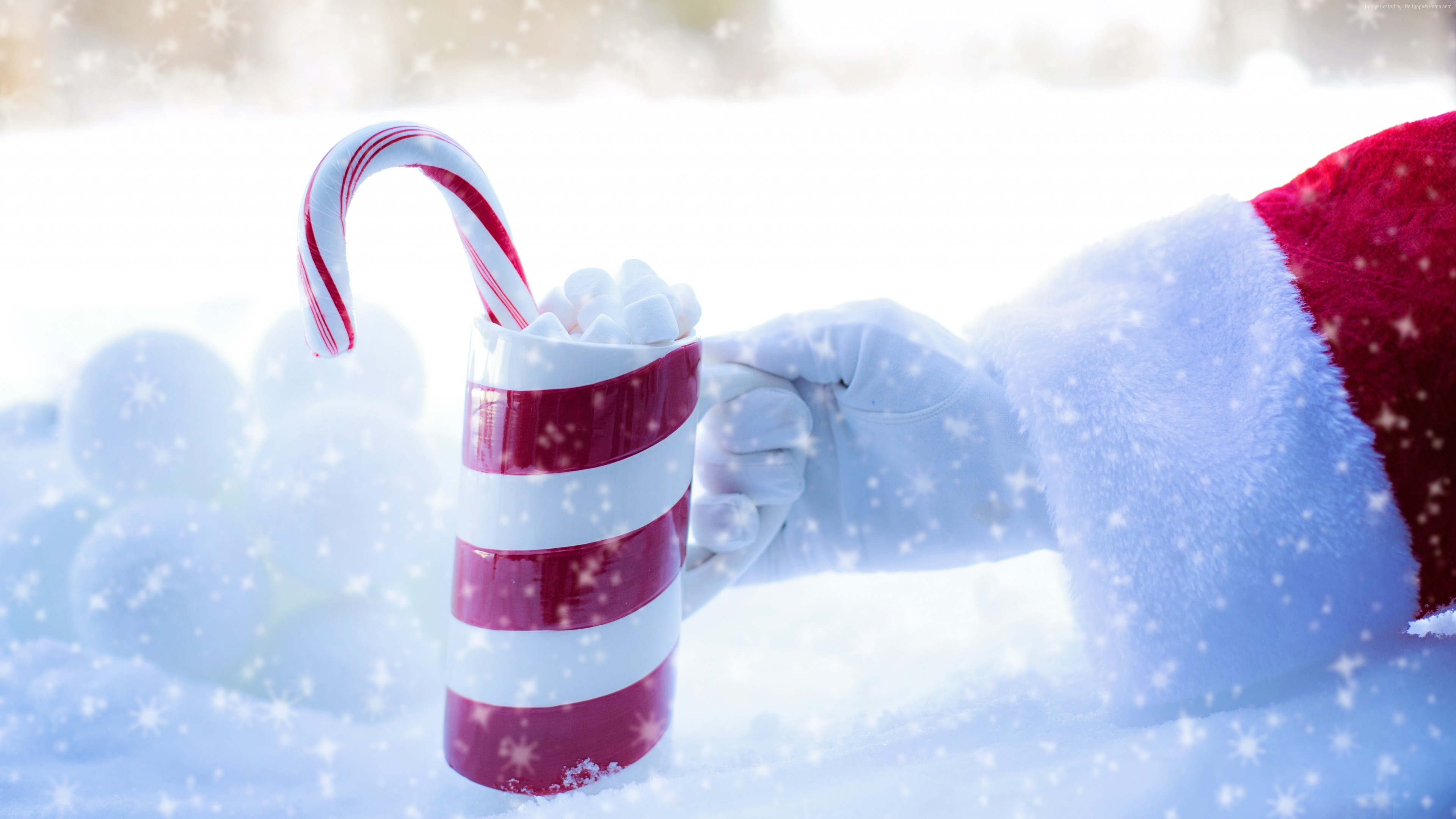 Stock Images Christmas, New Year, Santa, snow, winter, candy, cup, 5k, Stock Images