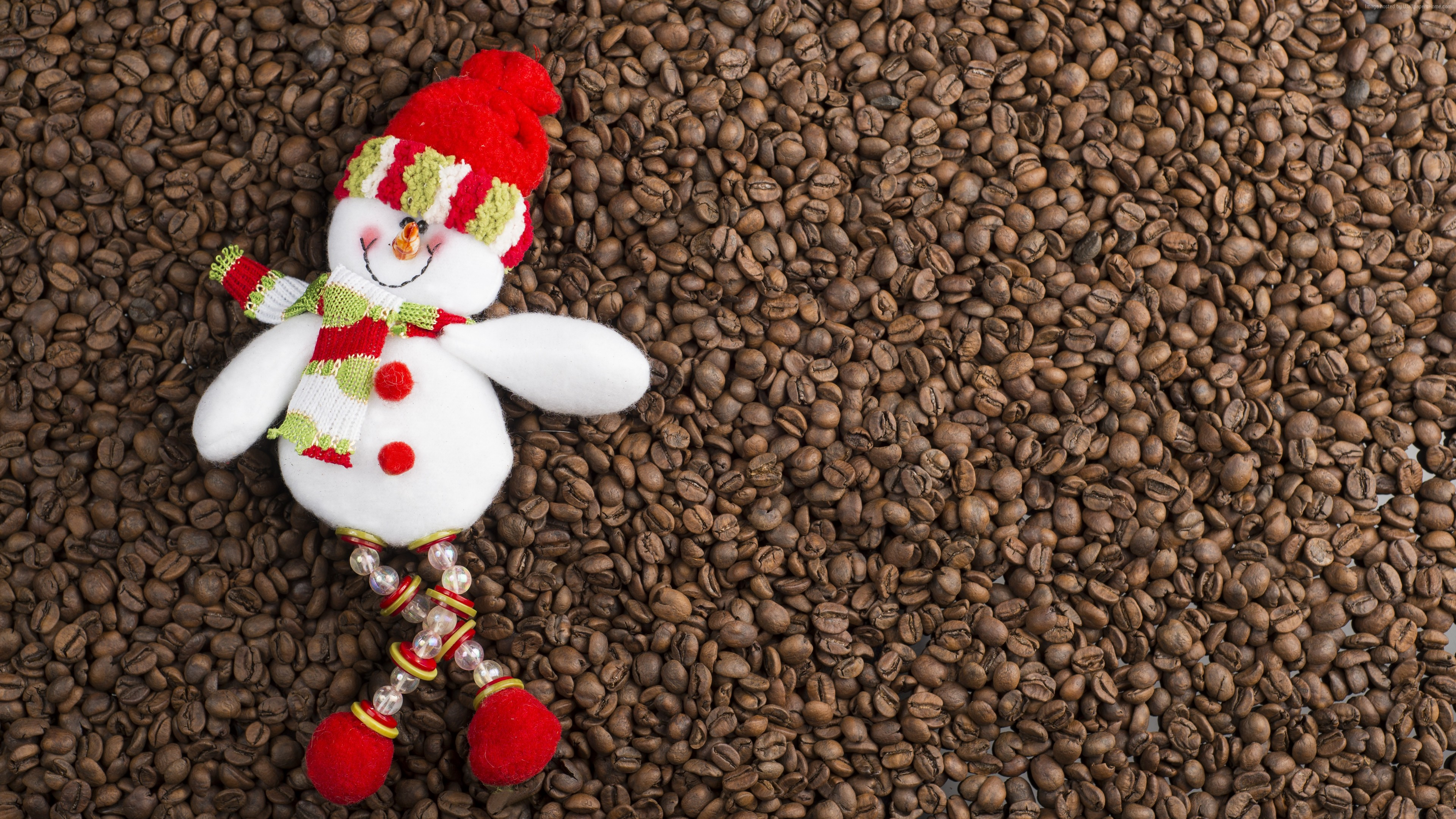 Stock Images Christmas, New Year, snowman, coffee, 5k, Stock Images