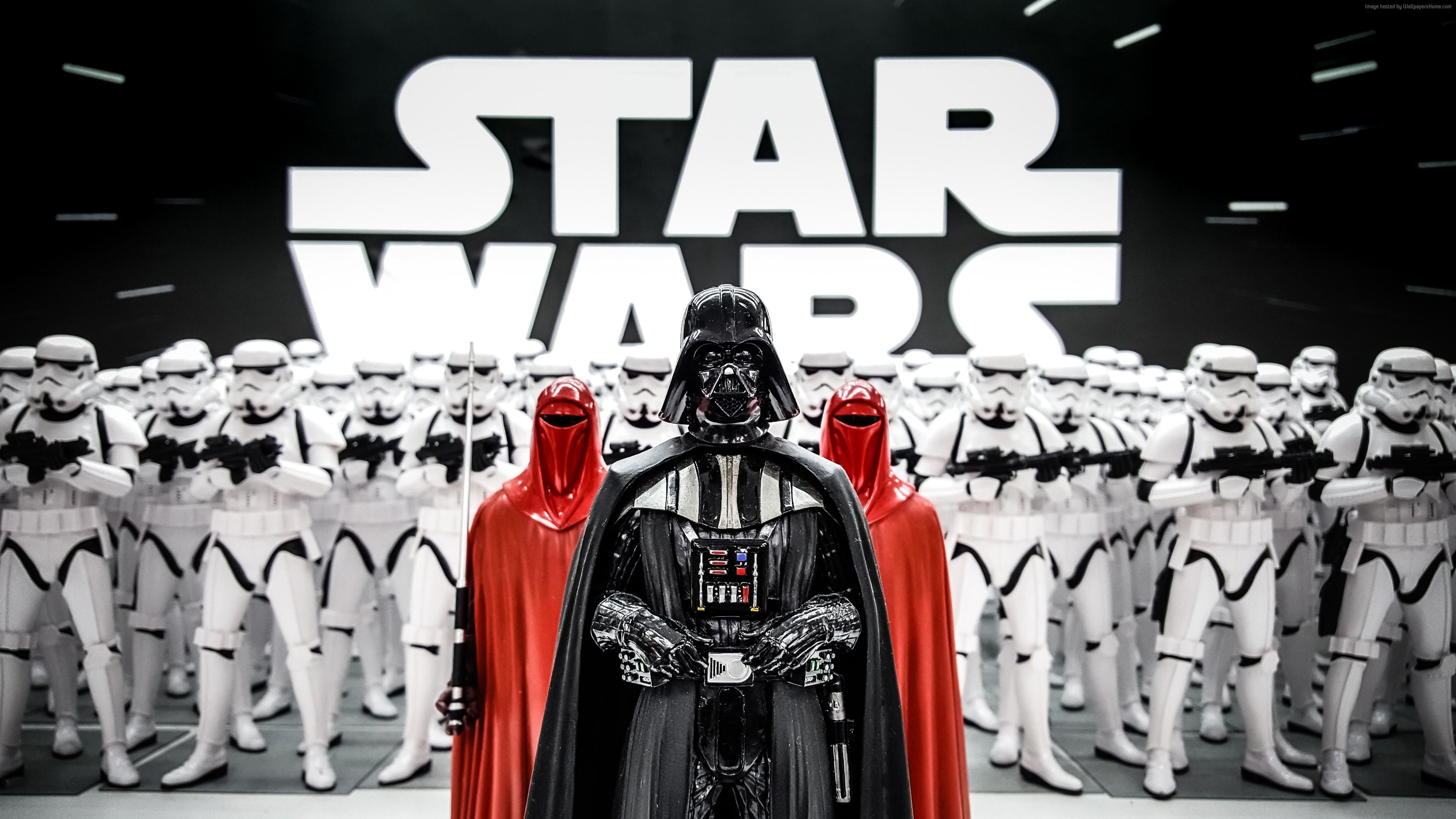 Stock Images Darth Vader Figurine Star Wars Clone Trooper 5K