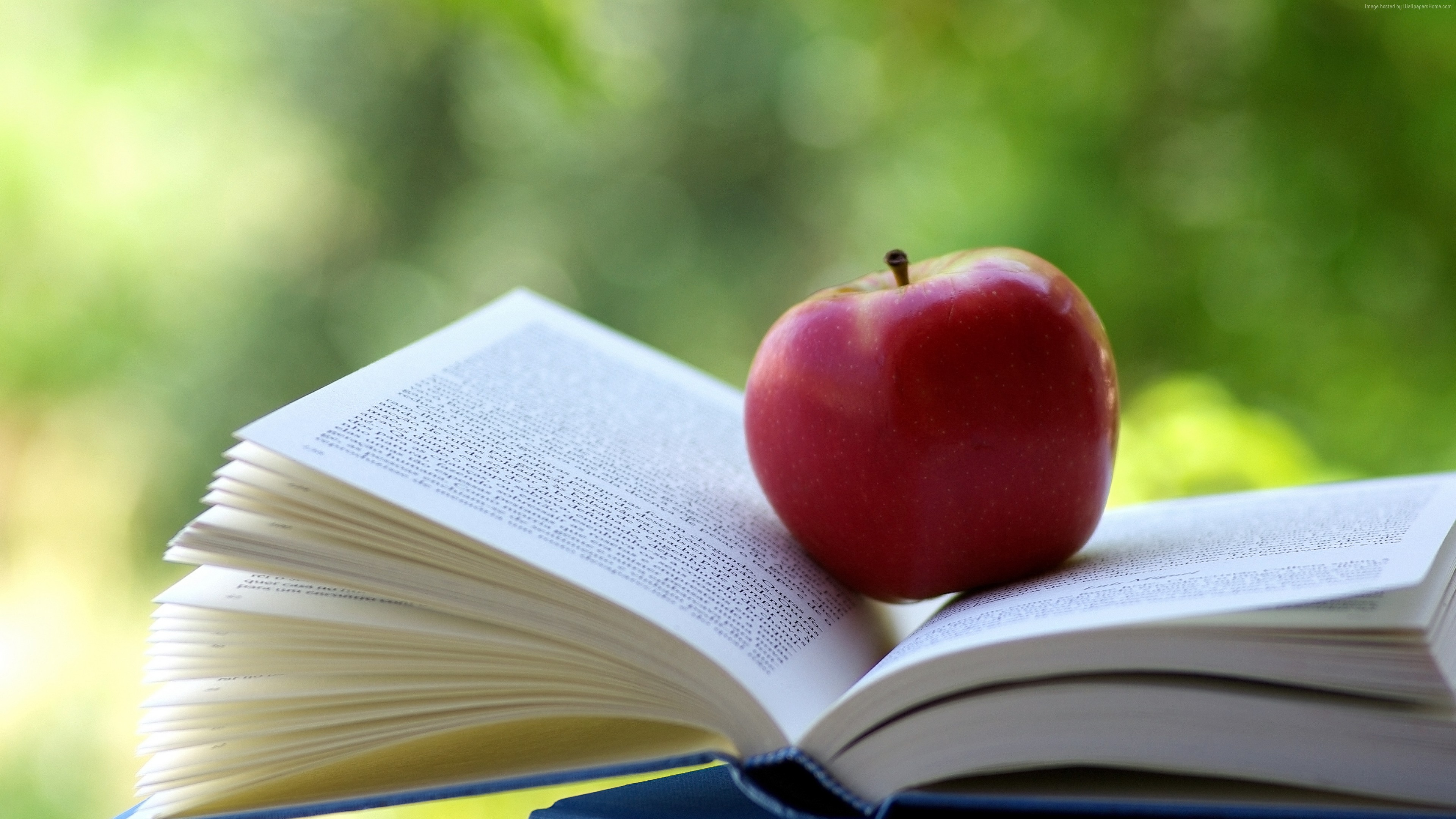 Stock Images apple, book, 4k, Stock Images