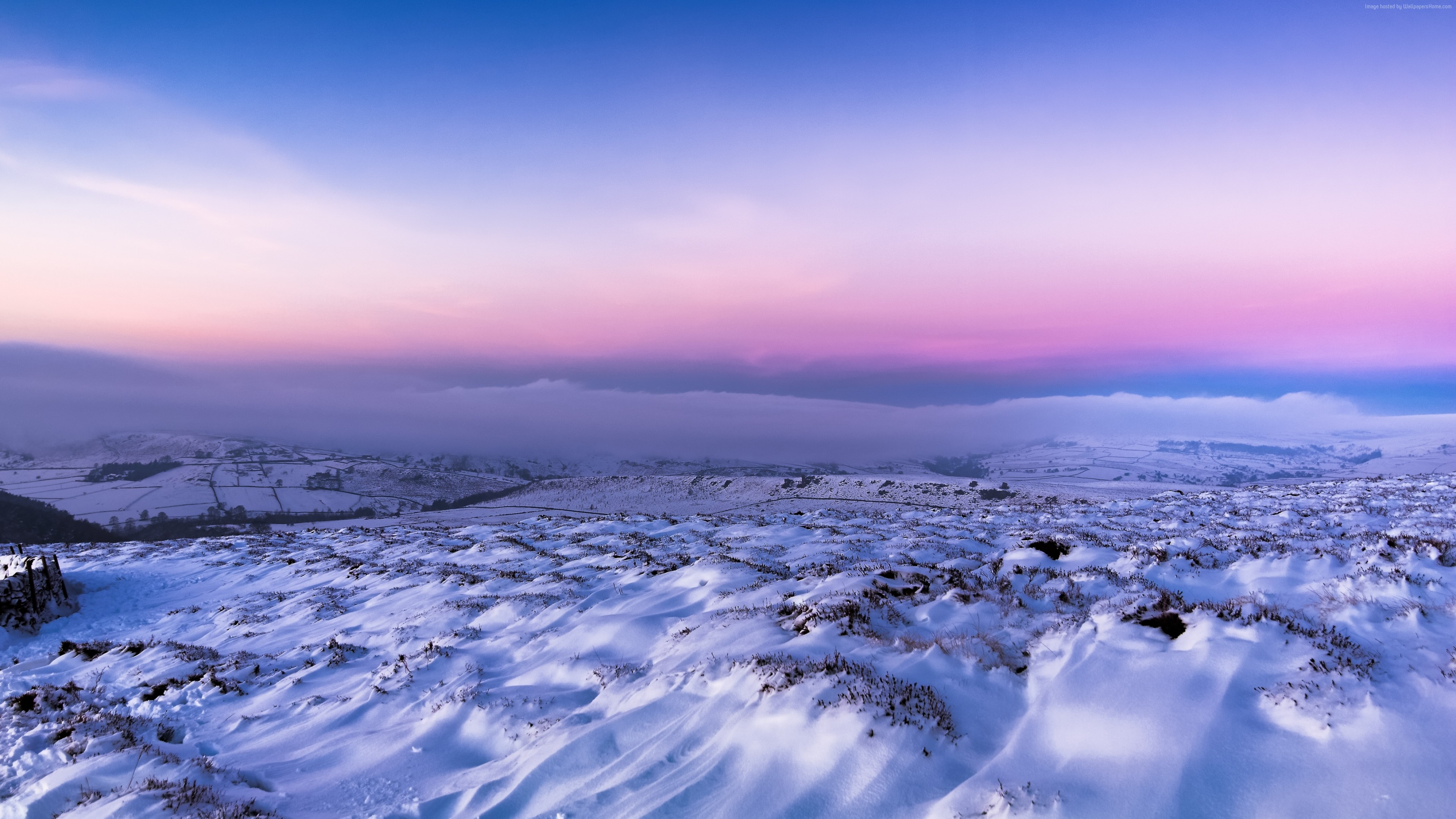 Stock Images field, snow, winter, 4k, Stock Images