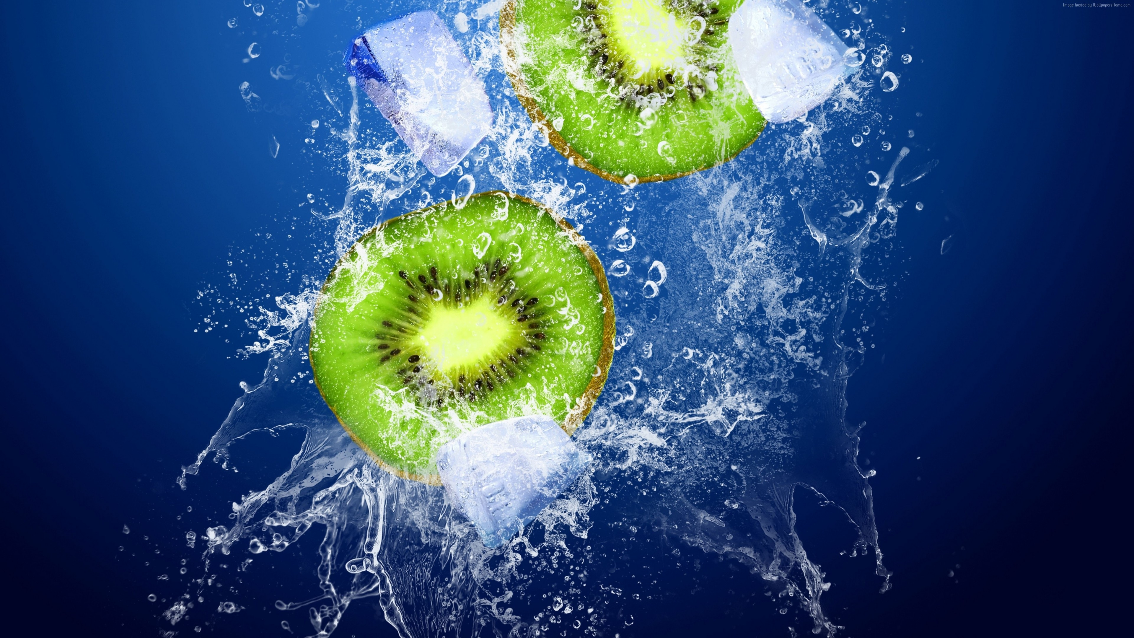 Stock Images kiwi, ice, underwater, 4k, Stock Images