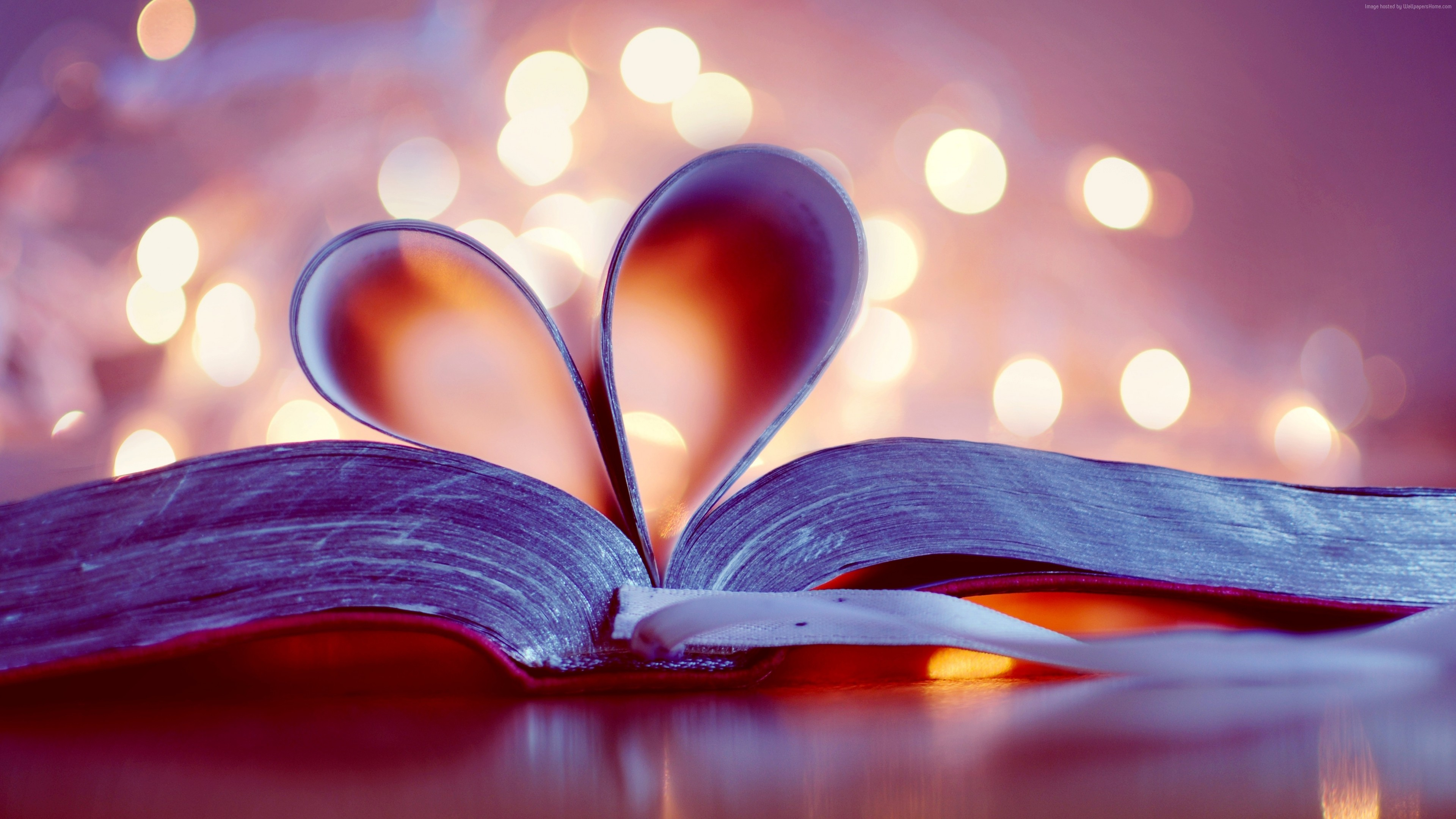 Stock Images love image, heart, book, 4k, Stock Images