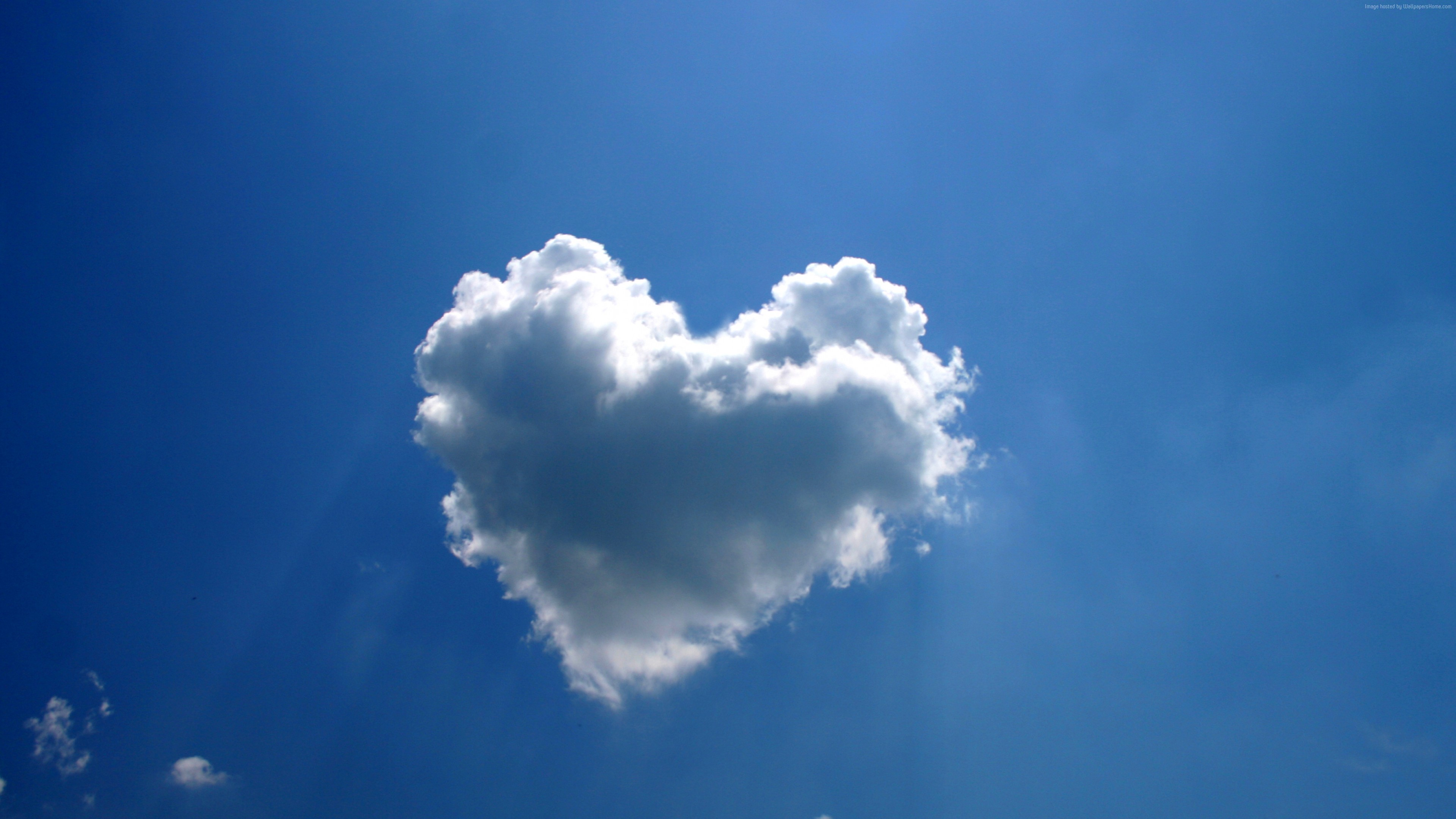 Stock Images love image, heart, clouds, 4k, Stock Images