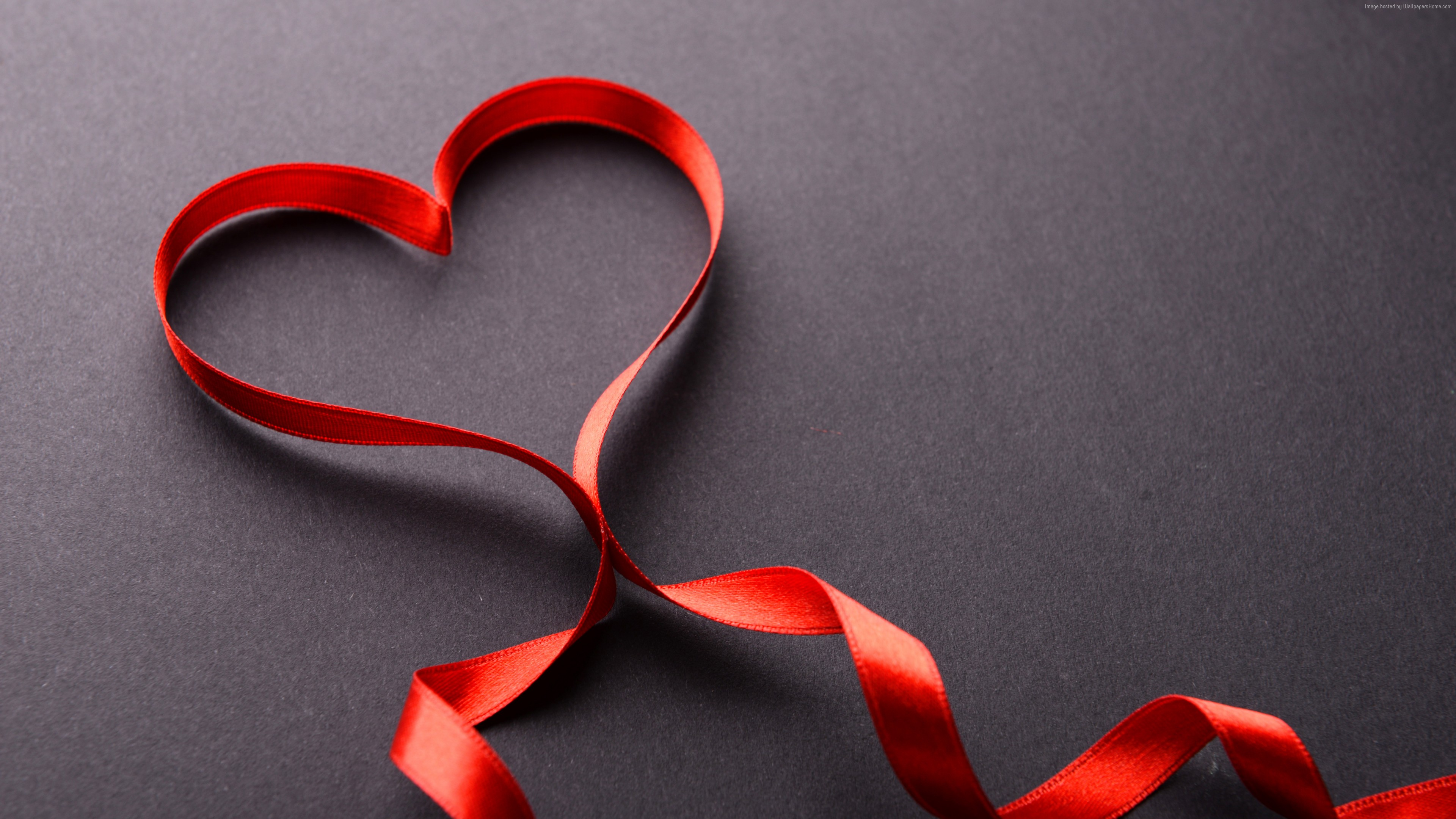 Stock Images love image, heart, ribbon, 5k, Stock Images