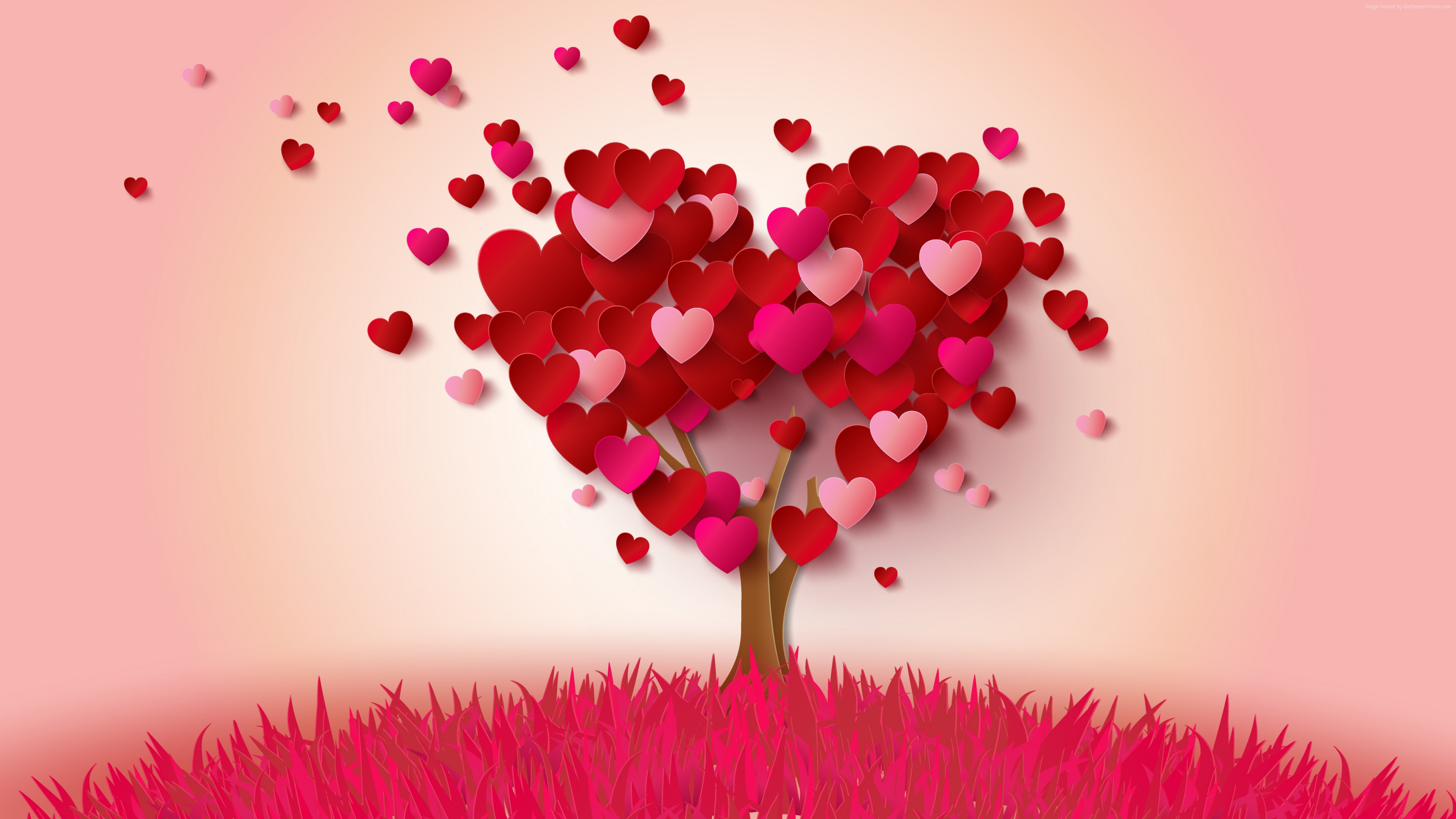 Stock Images love image, heart, tree, 4k, Stock Images