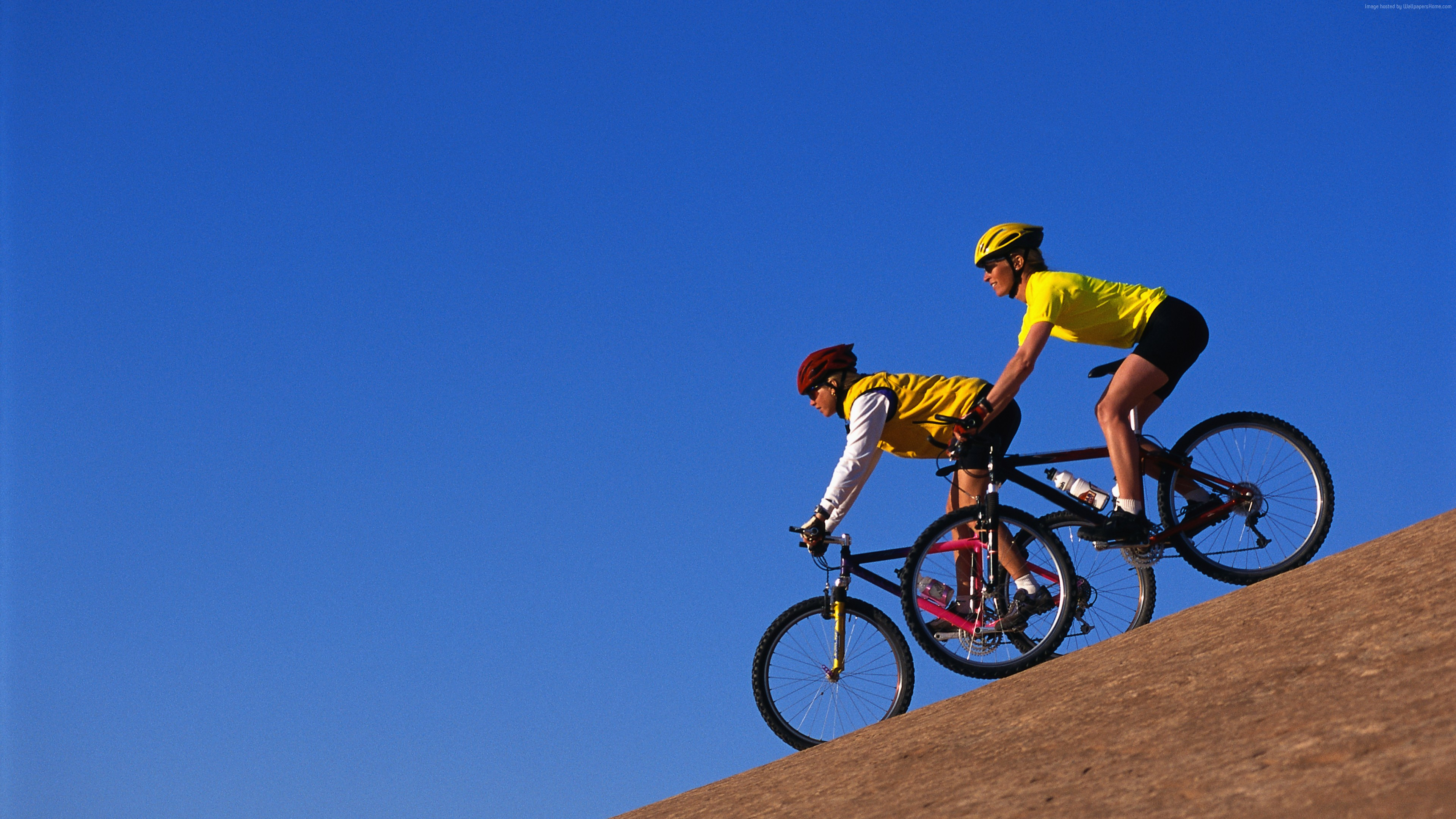 Wallpaper Вicycling, bicyclists, blue, sky, Sport