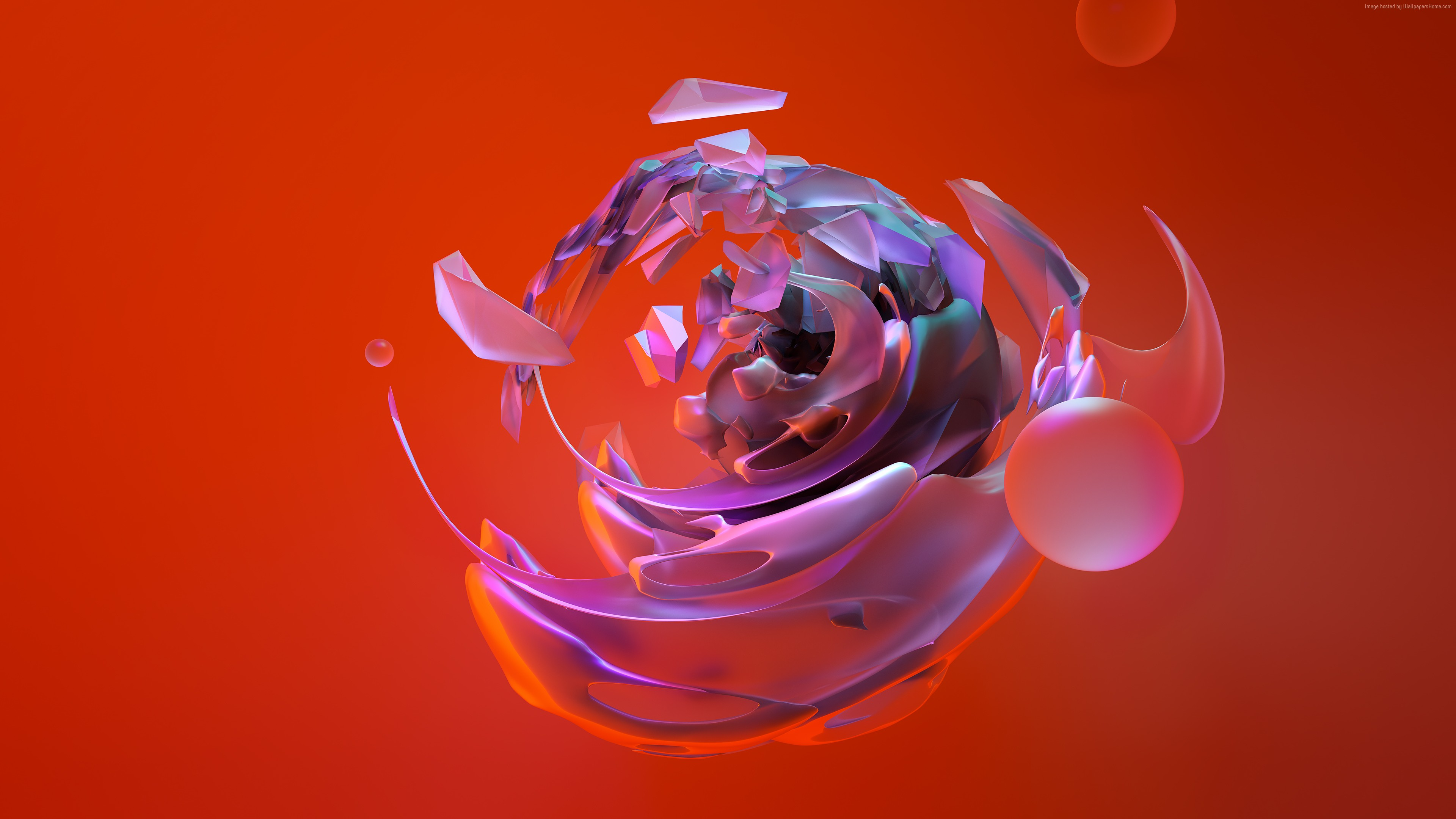 Wallpaper 3d Sphere Abstract Shapes 4k Abstract