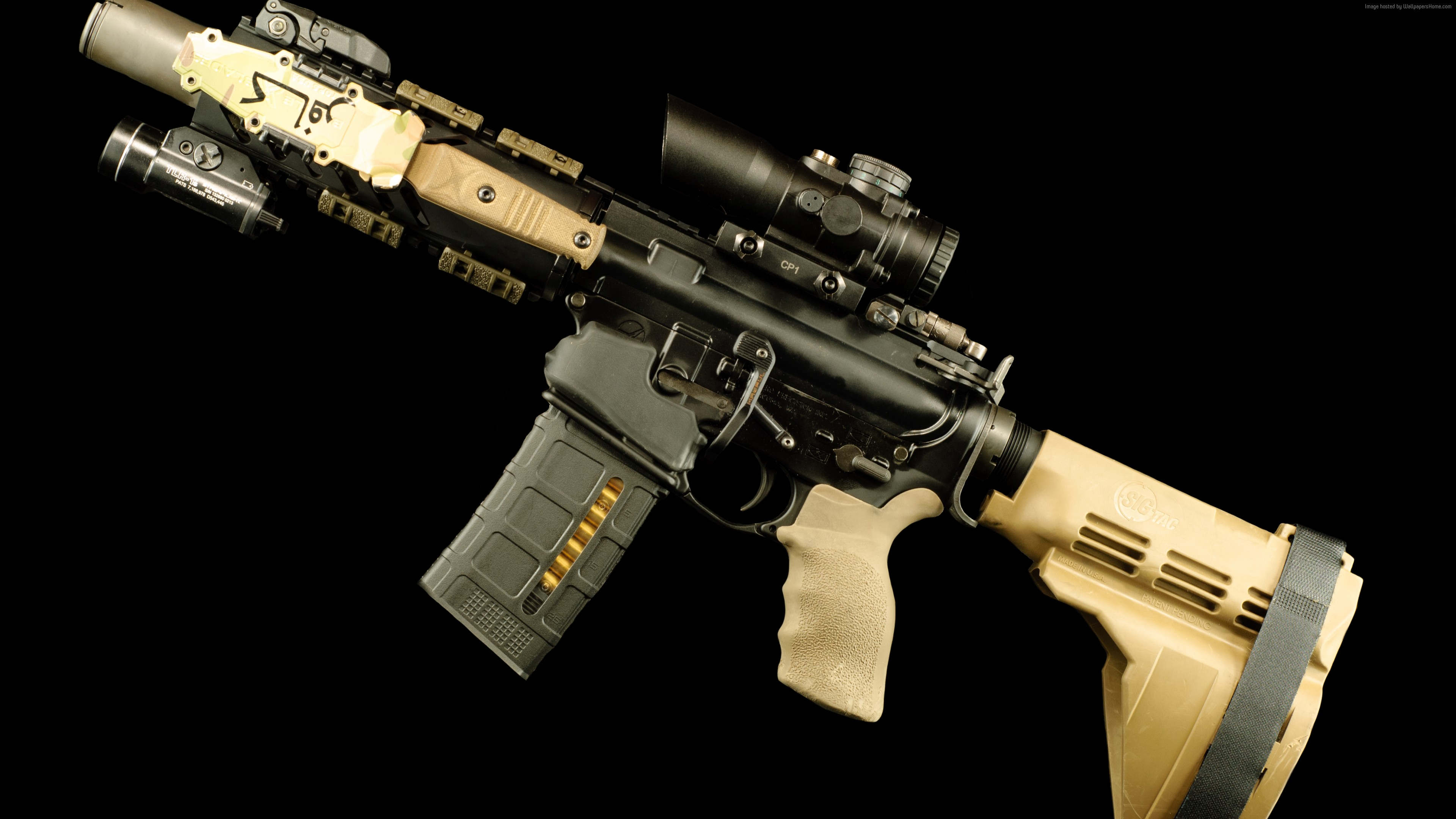 Wallpaper AR-15 rifle, 5, 56×45, U.S. Army, Military