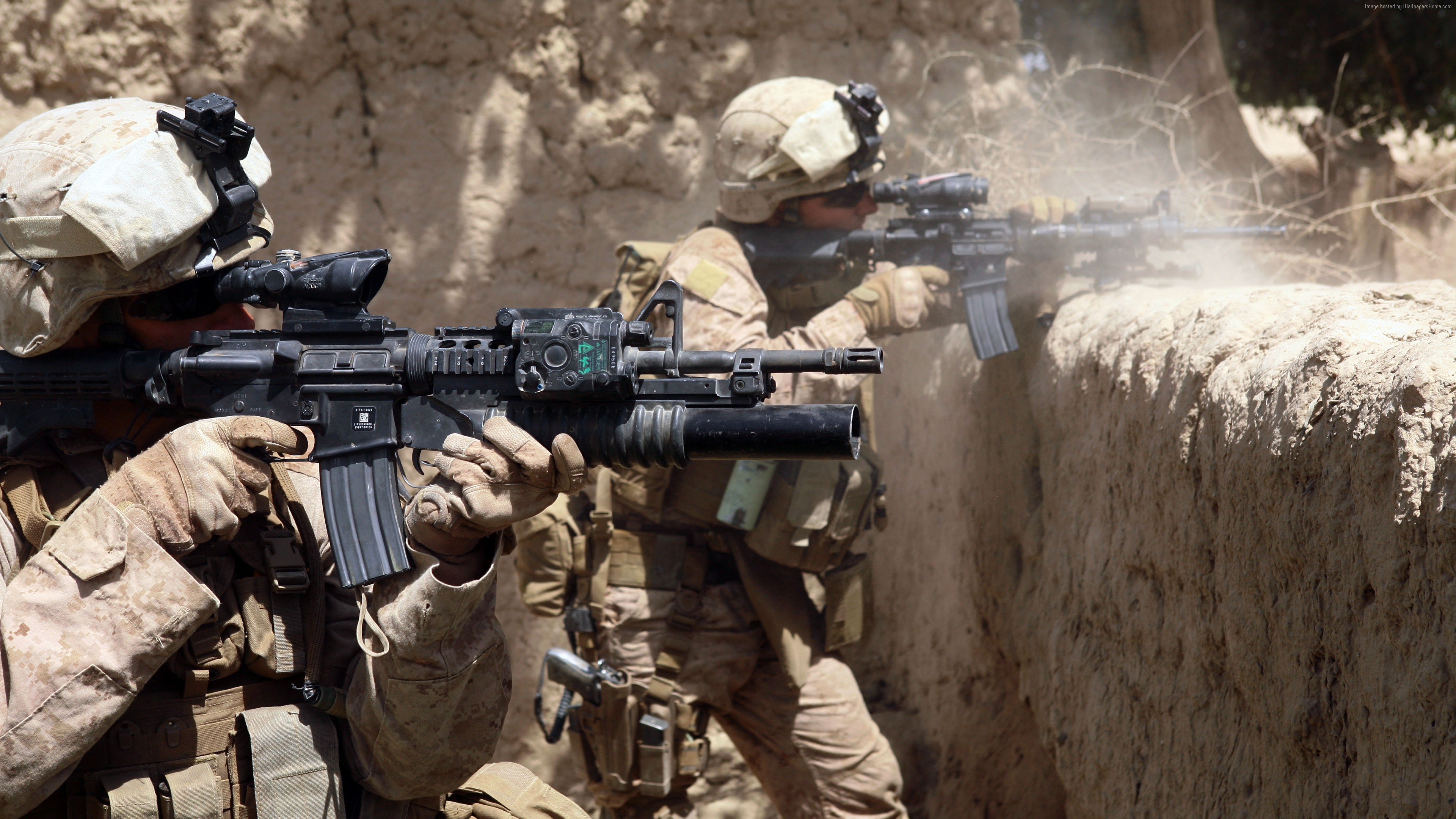 Wallpaper AR 15 M 16 Red Sight US Army Marine Corps Military Download