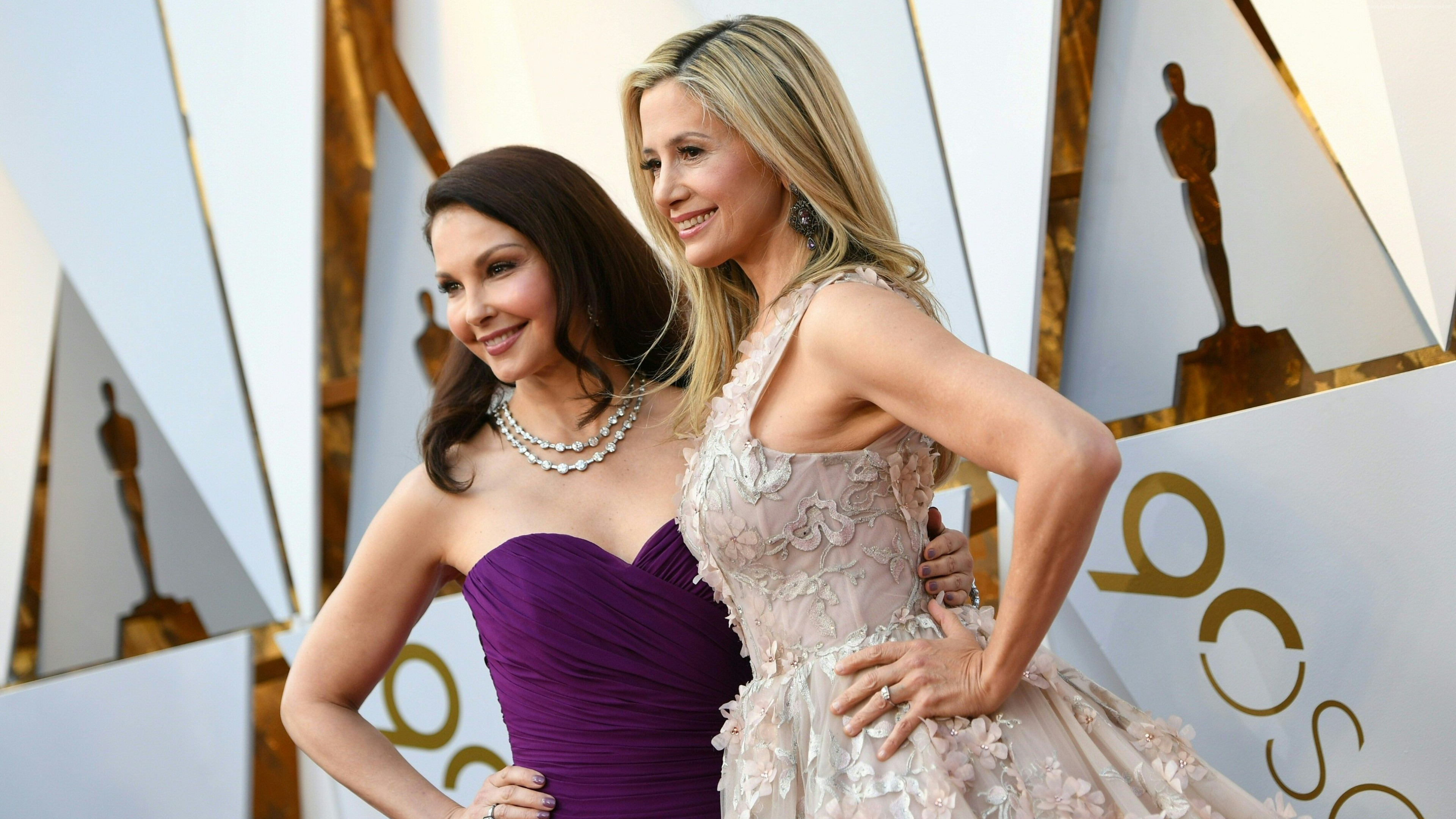 Wallpaper Ashley Judd, Mira Sorvino, Oscar 2018, 4k, Girls