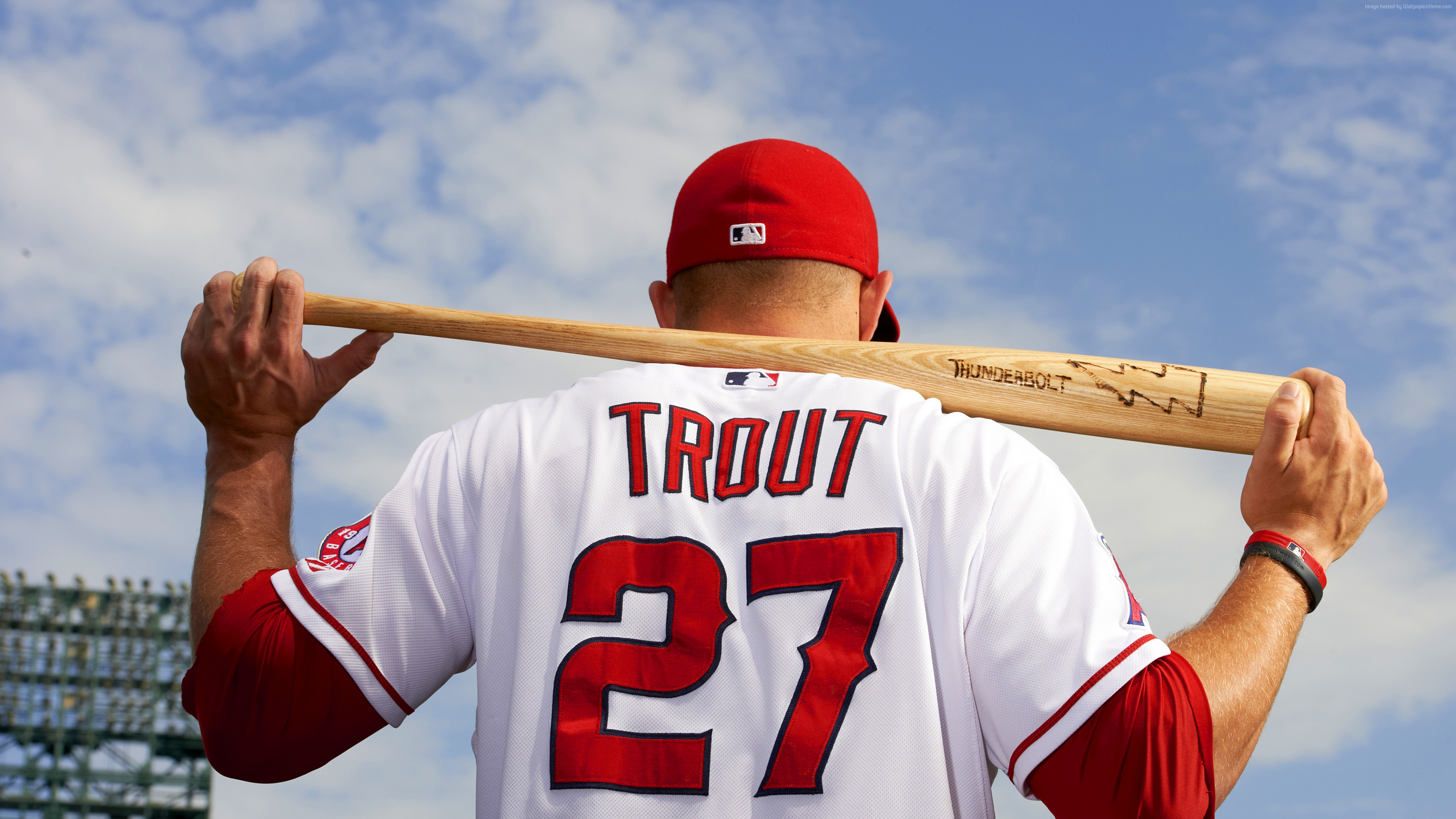Wallpaper Baseball, Top baseball players, Mike Trout, Los Angeles Angels of Anaheim, Sport