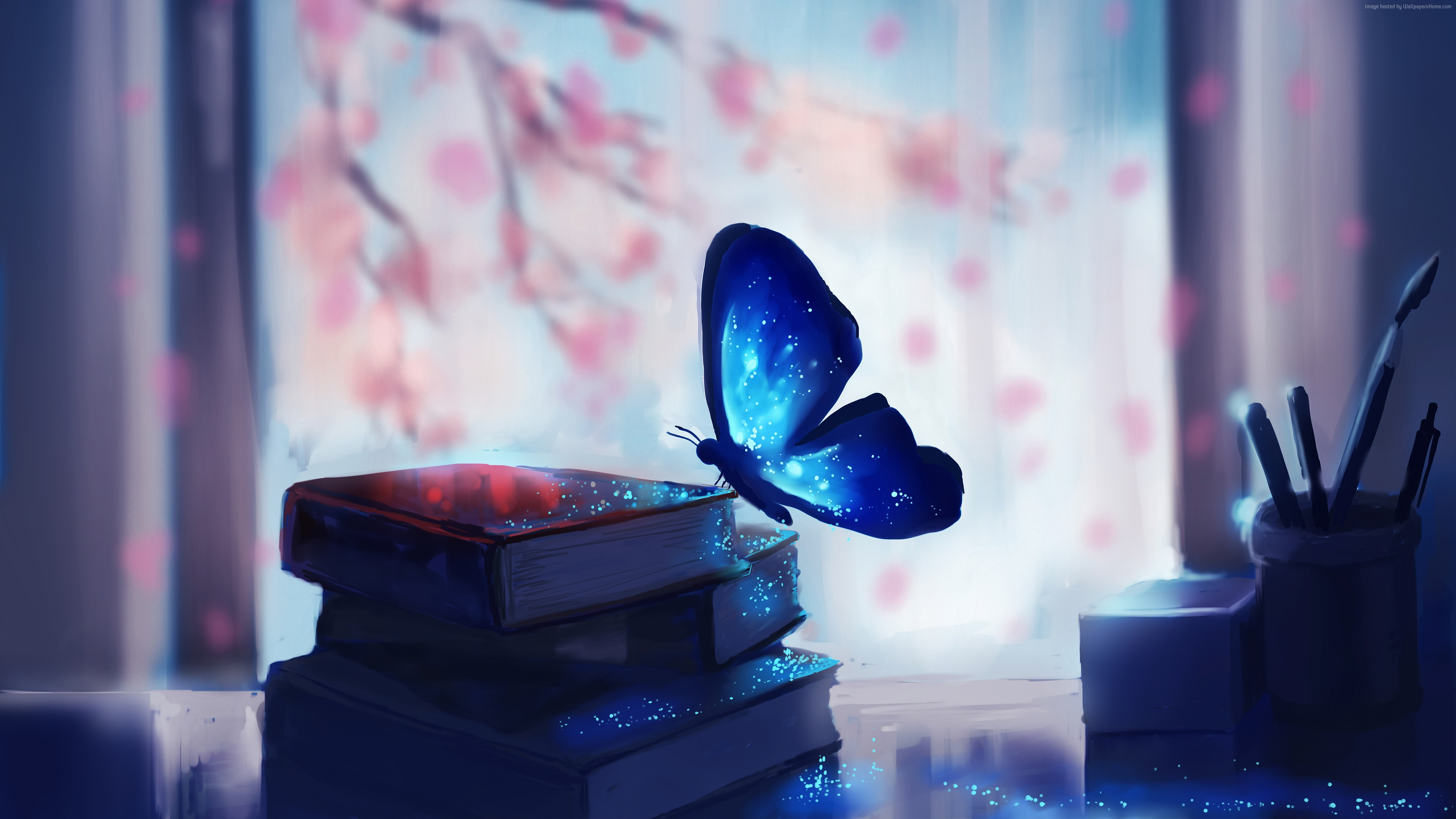 Wallpaper Butterfly, books, magic, art, Animals