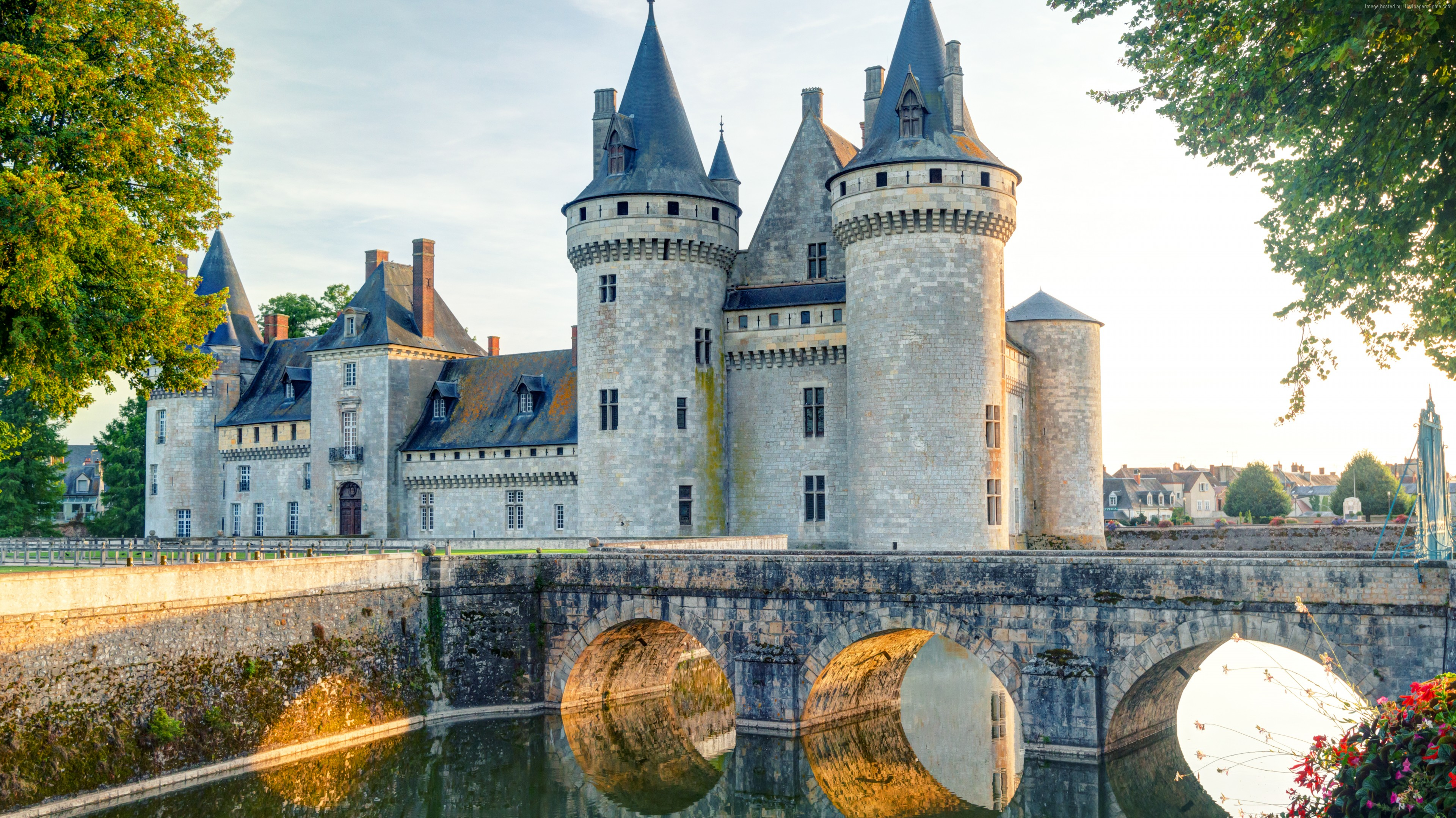 Wallpaper Chateau de sully-sur-loire, France, castle, travel, tourism, Architecture
